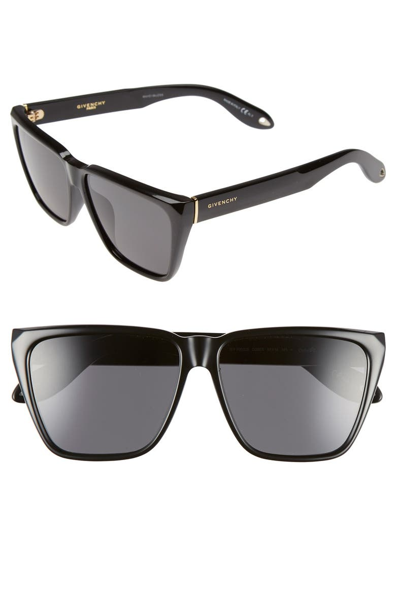 60e695f88f Givenchy 58mm Flat Top Sunglasses