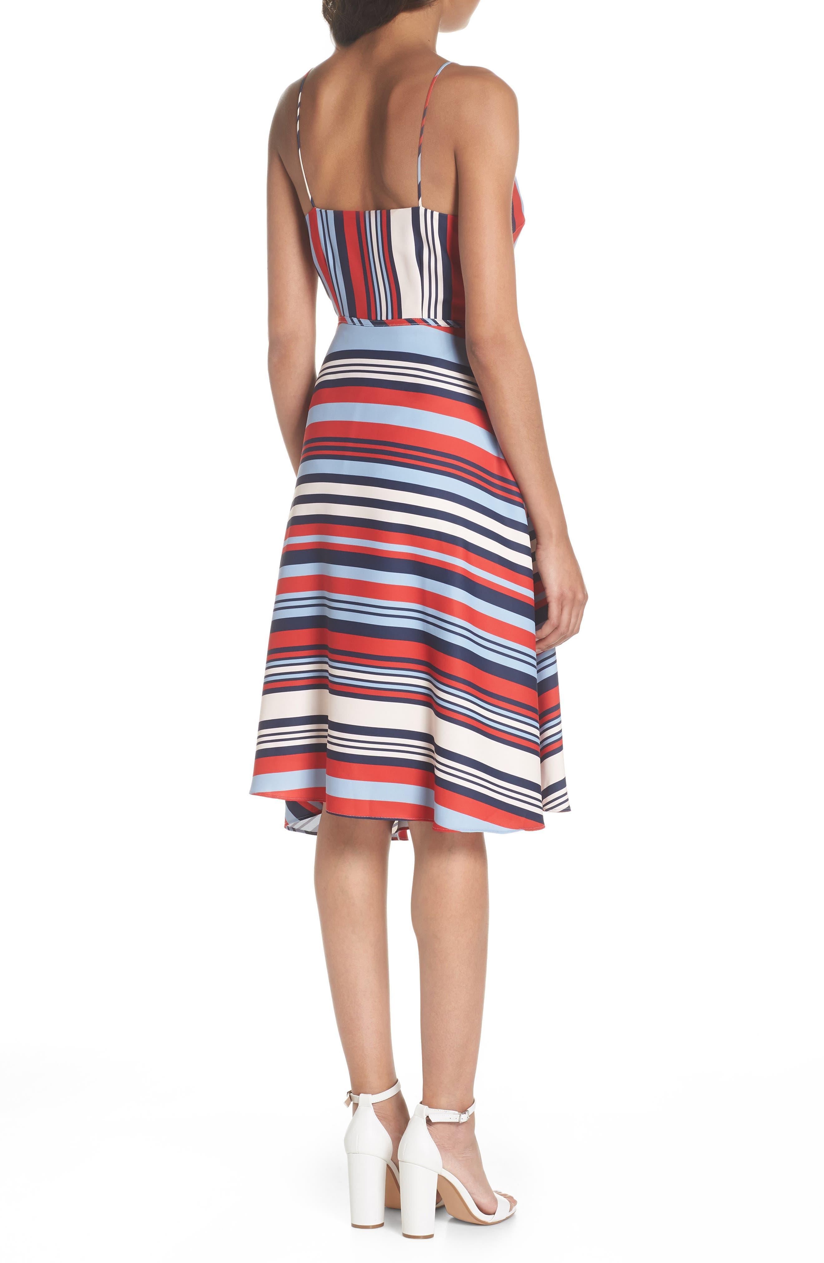 Milan Stripe Wrap Dress,                             Alternate thumbnail 2, color,                             648