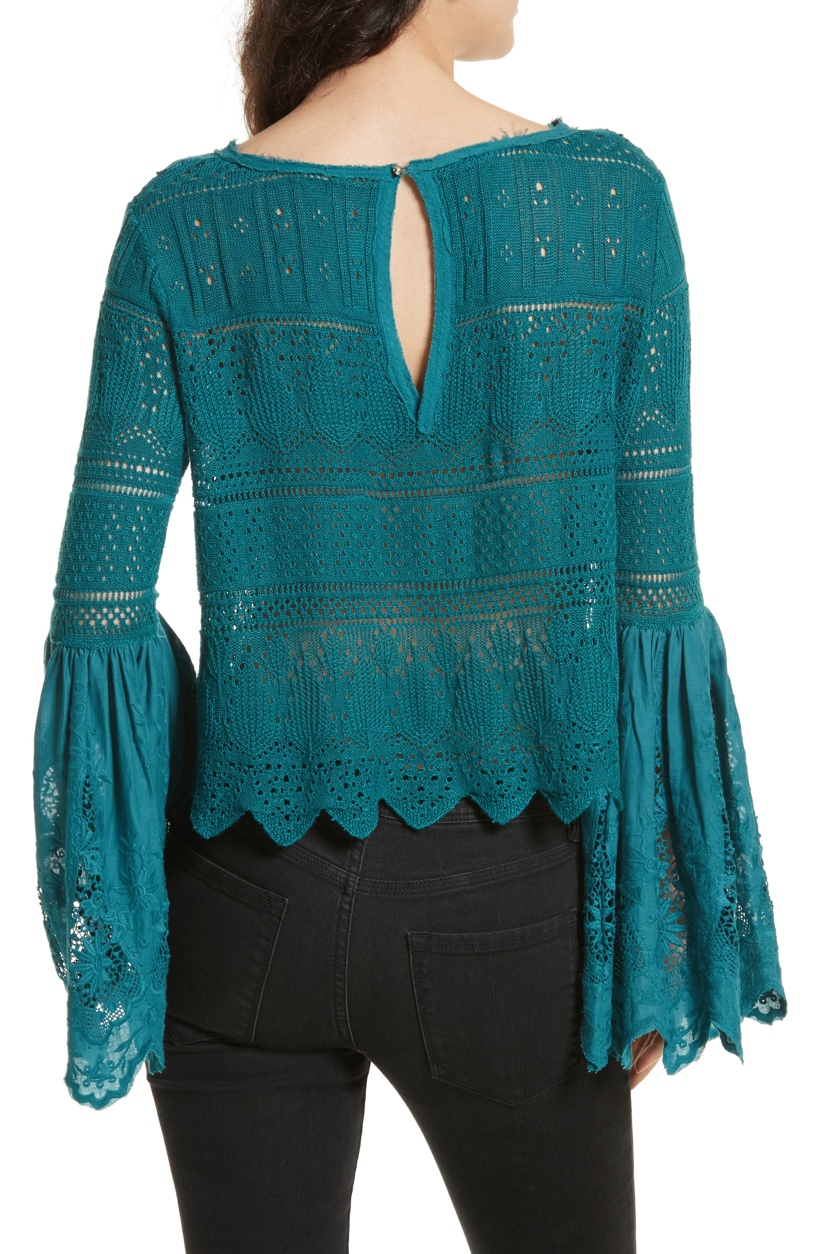 Once Upon a Time Lace Top,                             Alternate thumbnail 6, color,