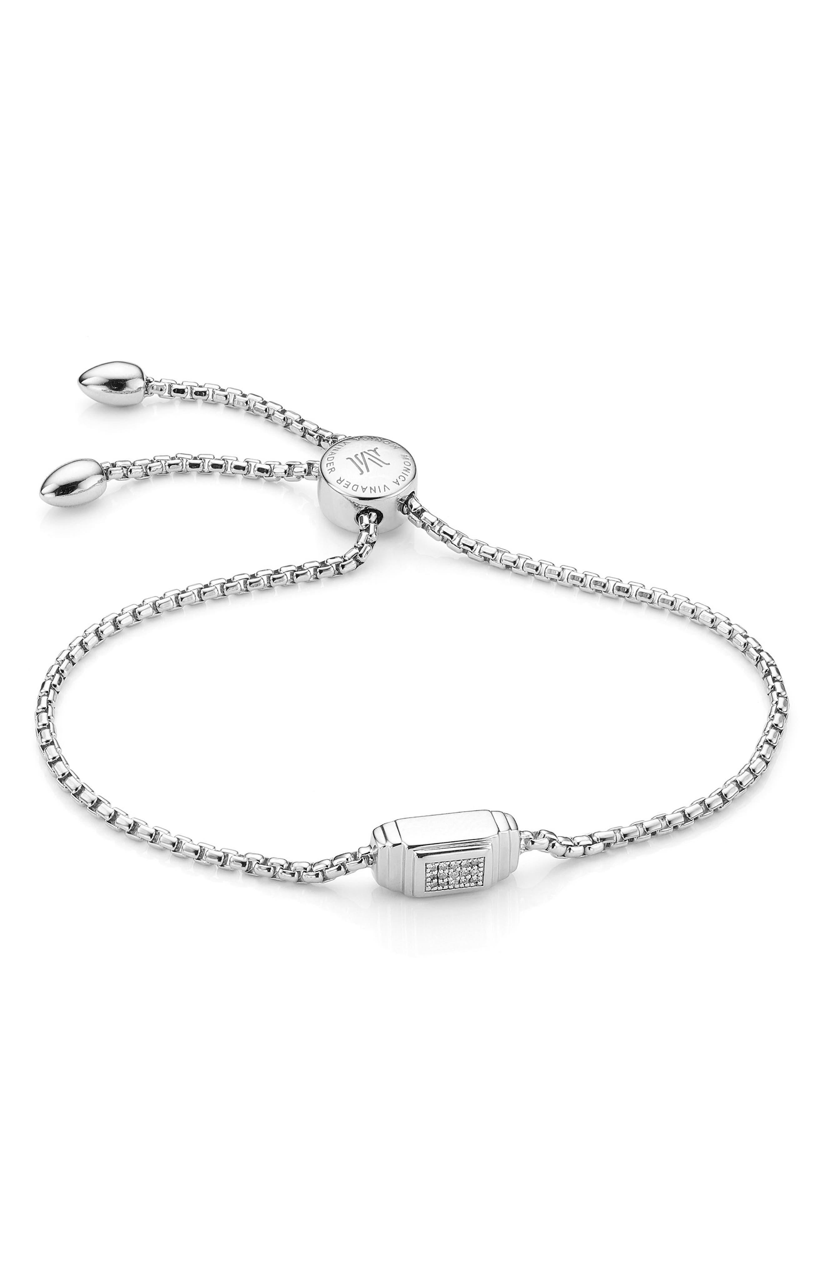 Baja Deco Friendship Bracelet,                         Main,                         color, SILVER
