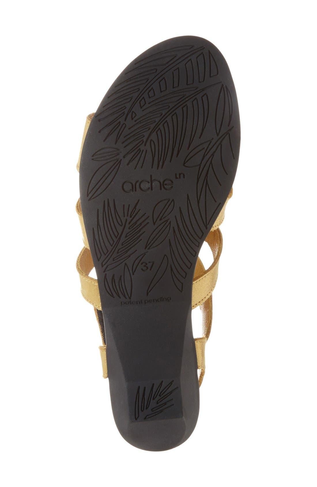 'Obela' Water Resistant Leather Sandal,                             Alternate thumbnail 24, color,