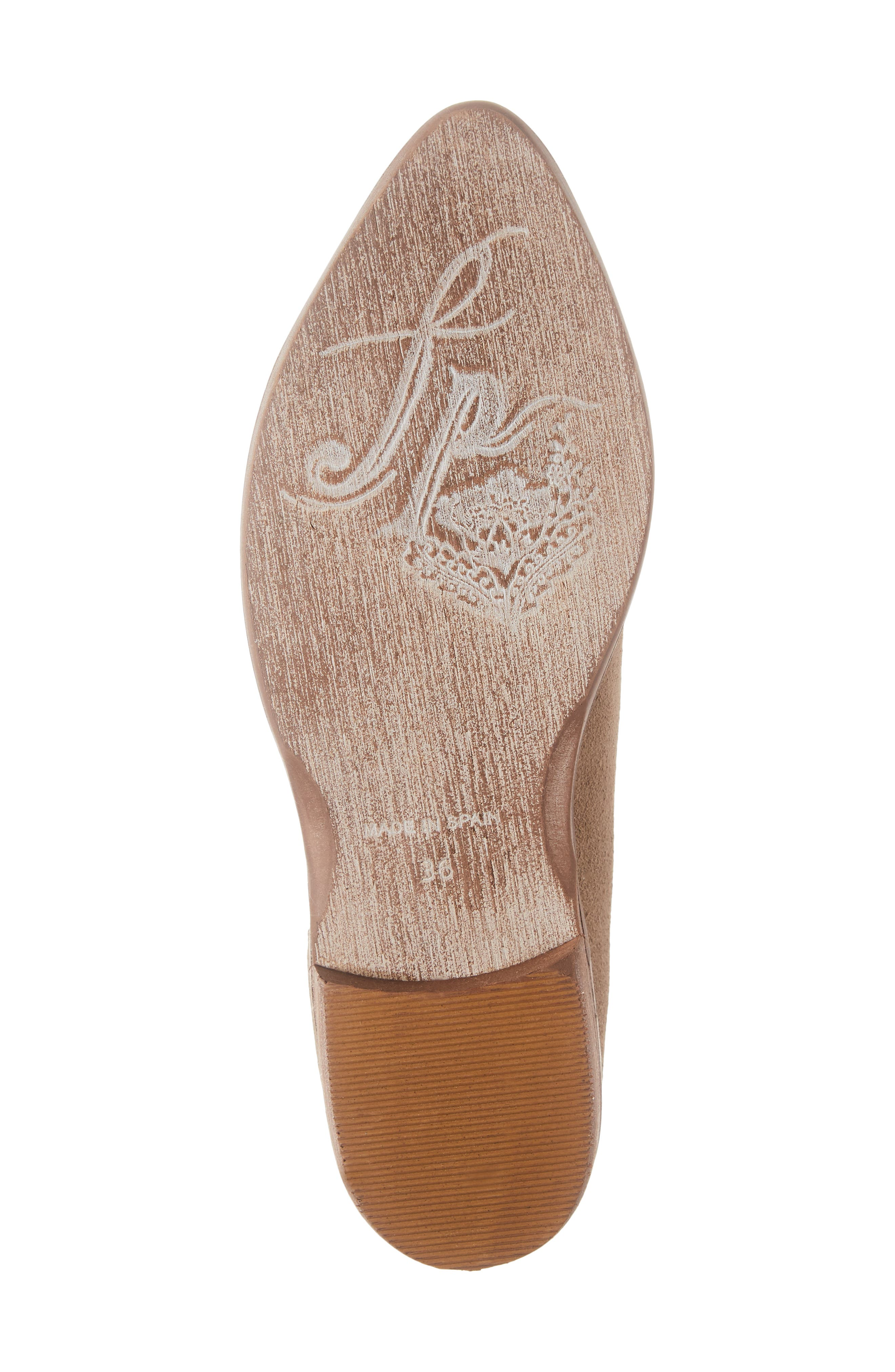 'Royale' Pointy Toe Flat,                             Alternate thumbnail 6, color,                             BEIGE SUEDE