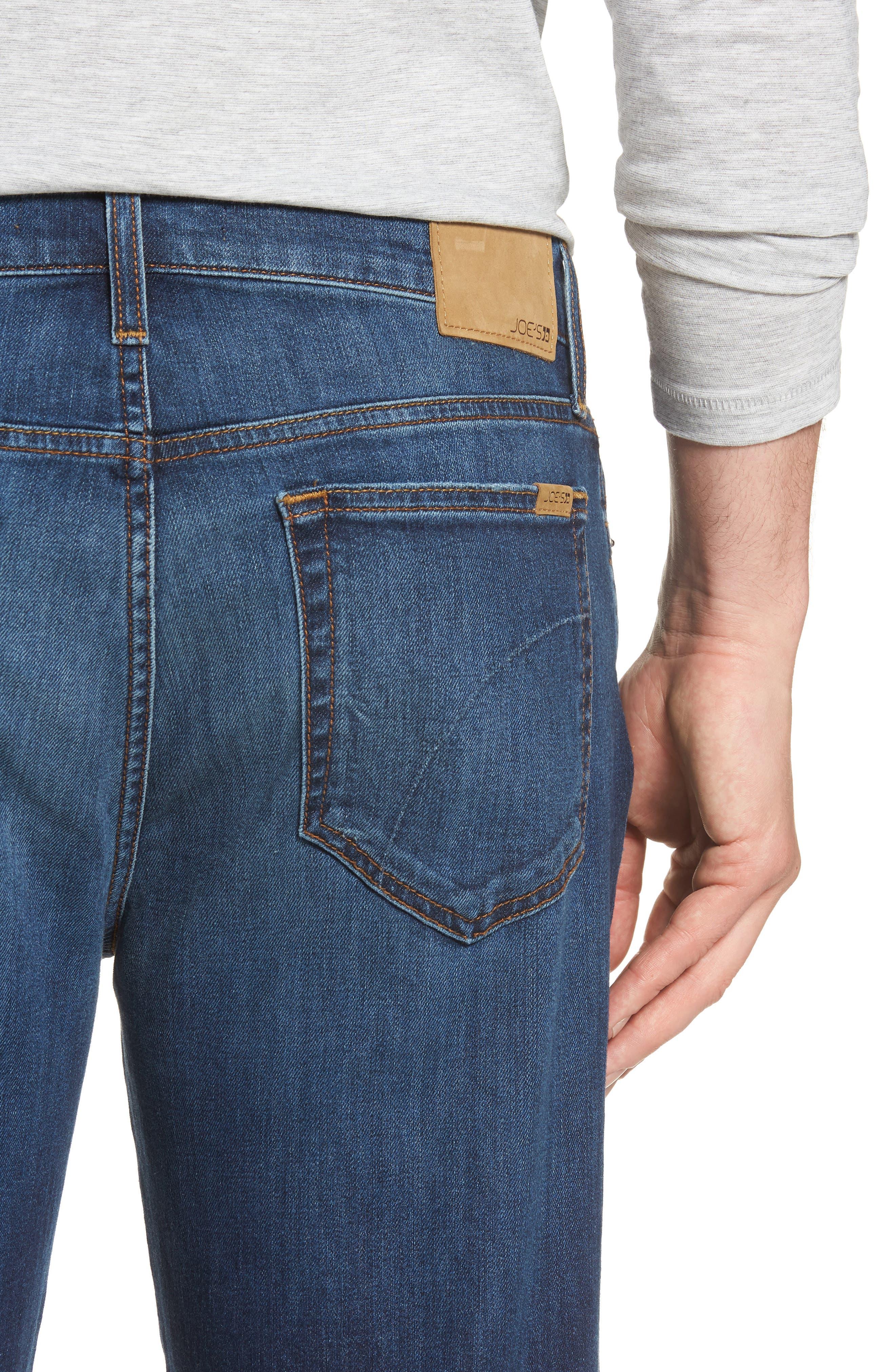 Classic Straight Leg Jeans,                             Alternate thumbnail 4, color,                             VALEN