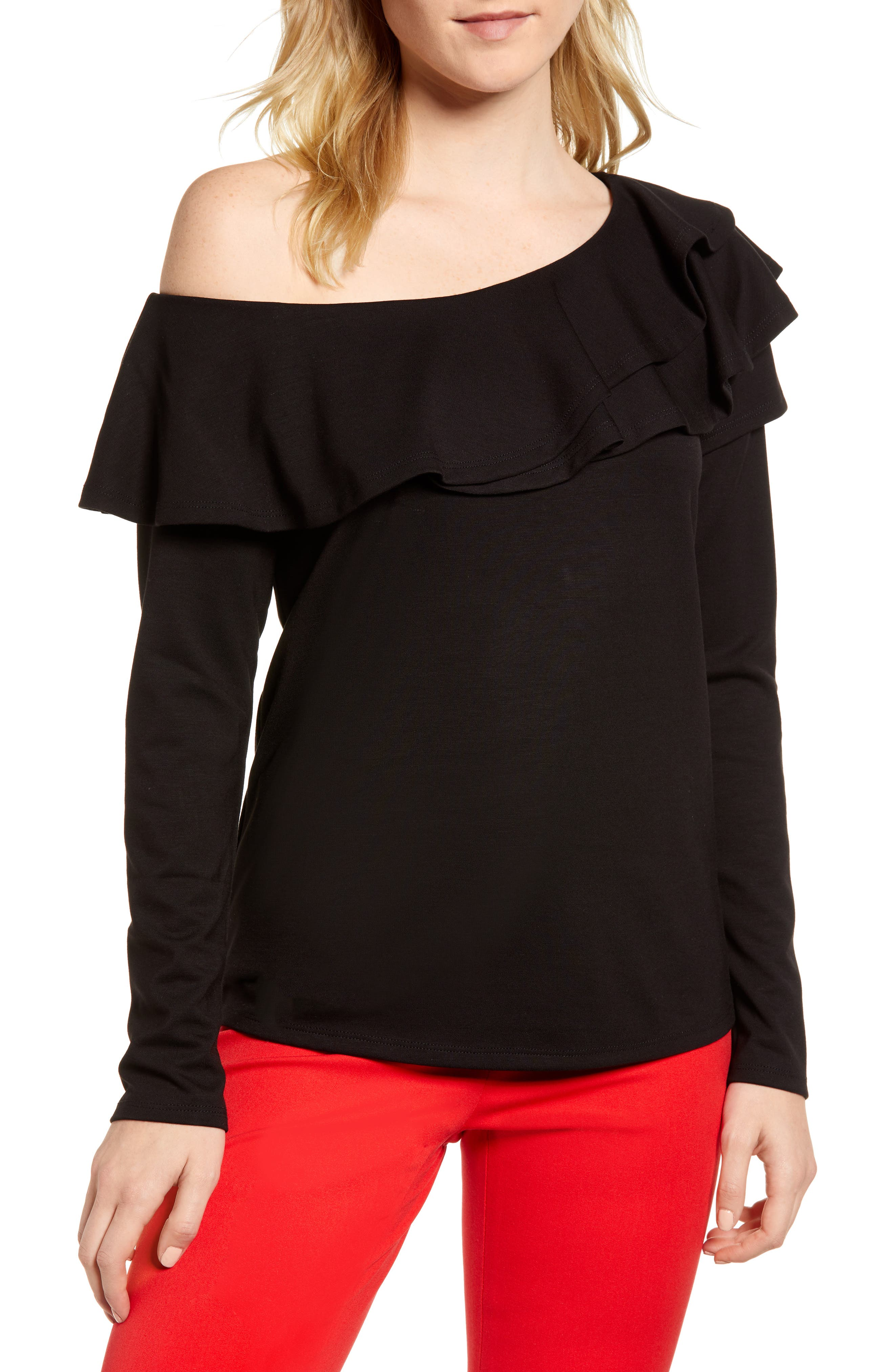 x Living in Yellow Elizabeth Date Night Top, Main, color, 001