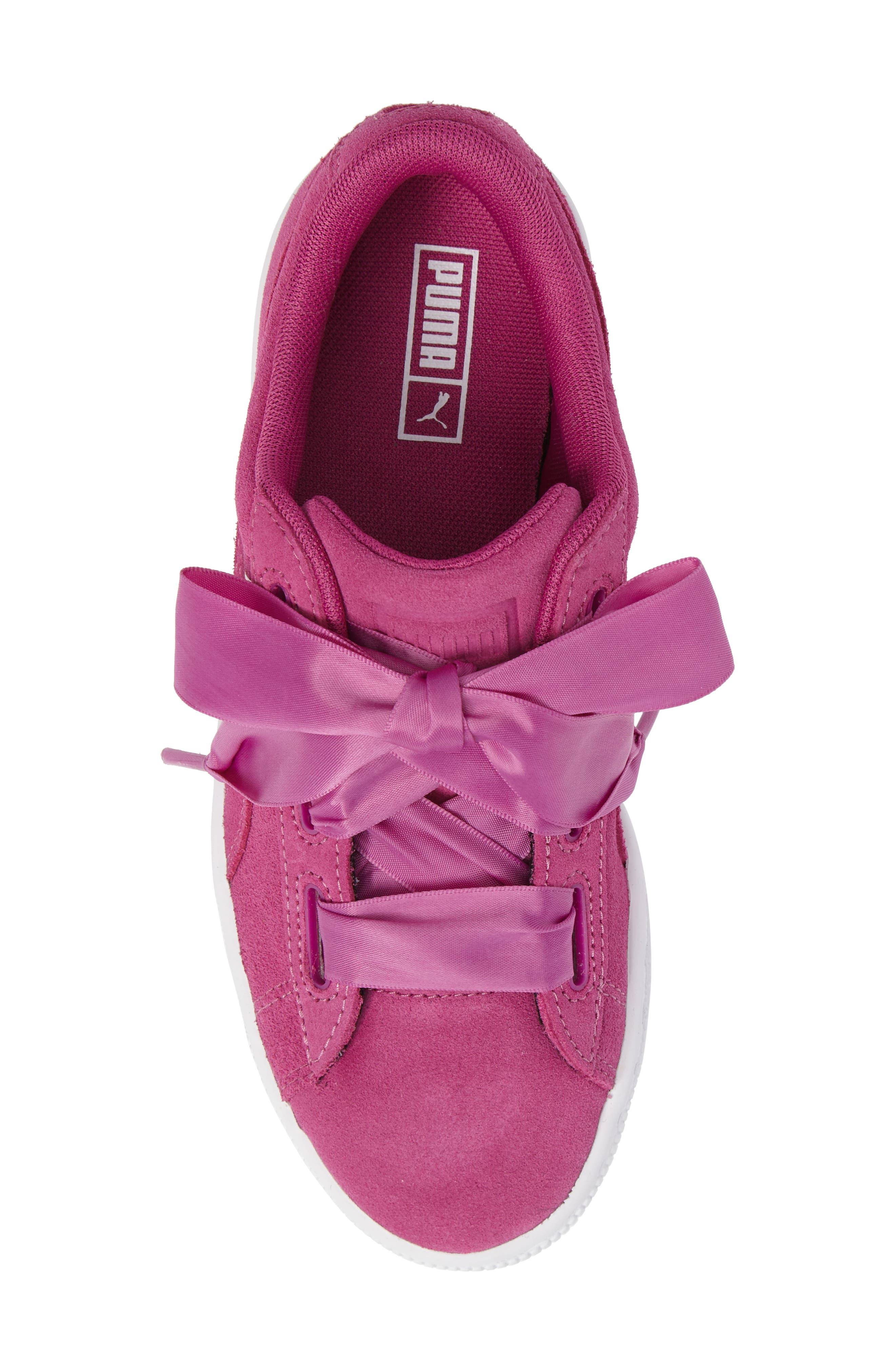 Suede Heart Sneaker,                             Alternate thumbnail 5, color,                             690