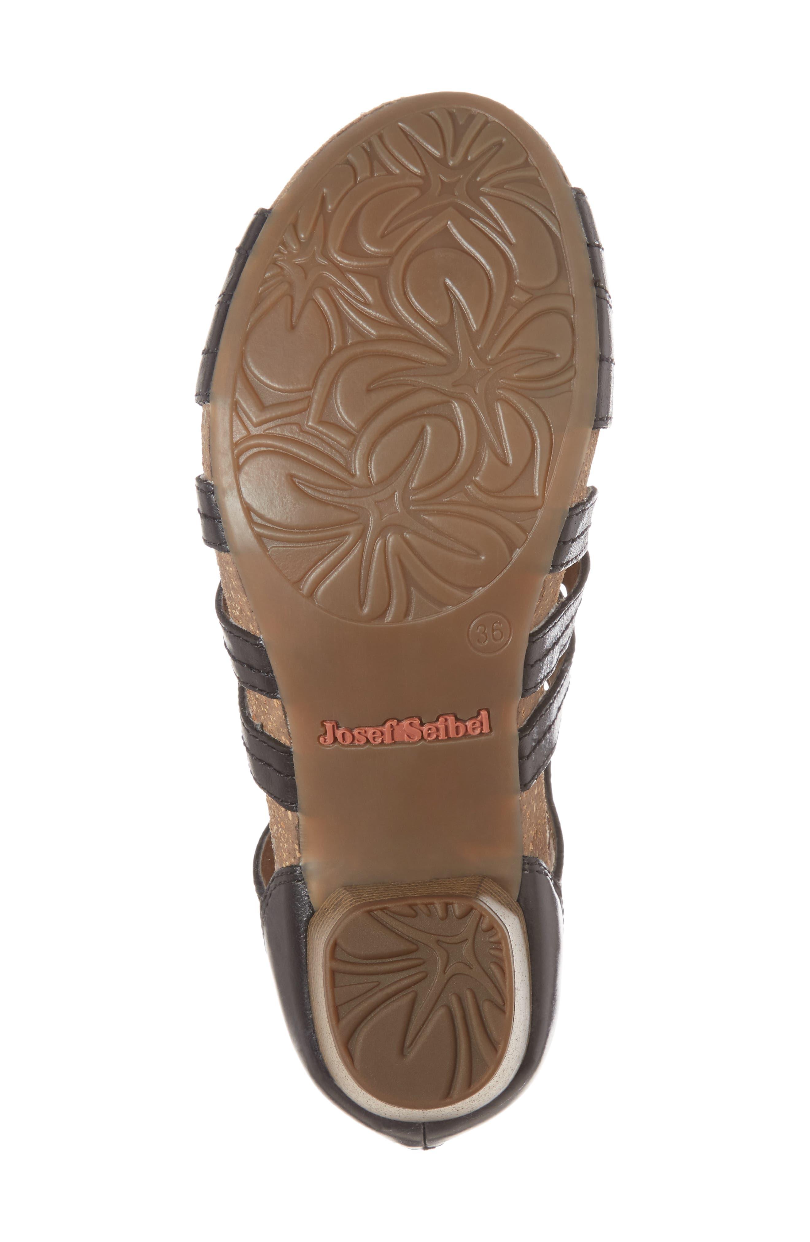 Rose 21 Gladiator Sandal,                             Alternate thumbnail 6, color,                             BLACK LEATHER