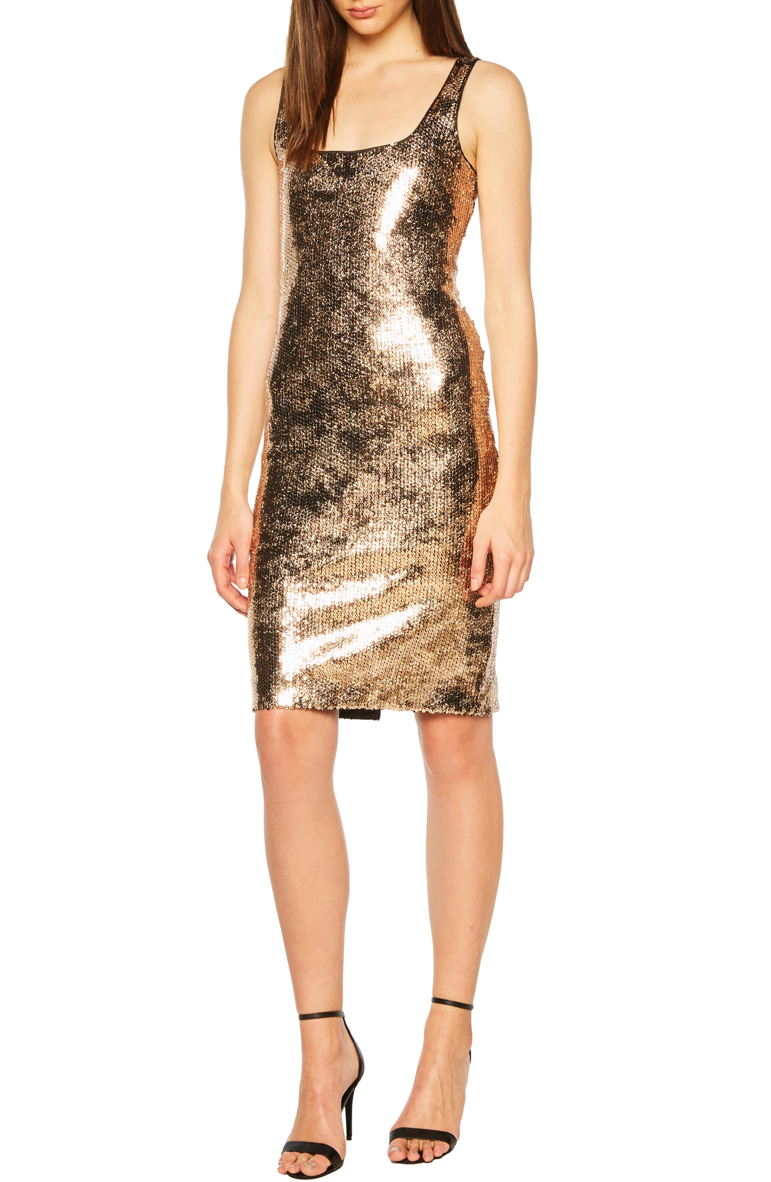 Bardot Neve Sequin Cocktail Sheath