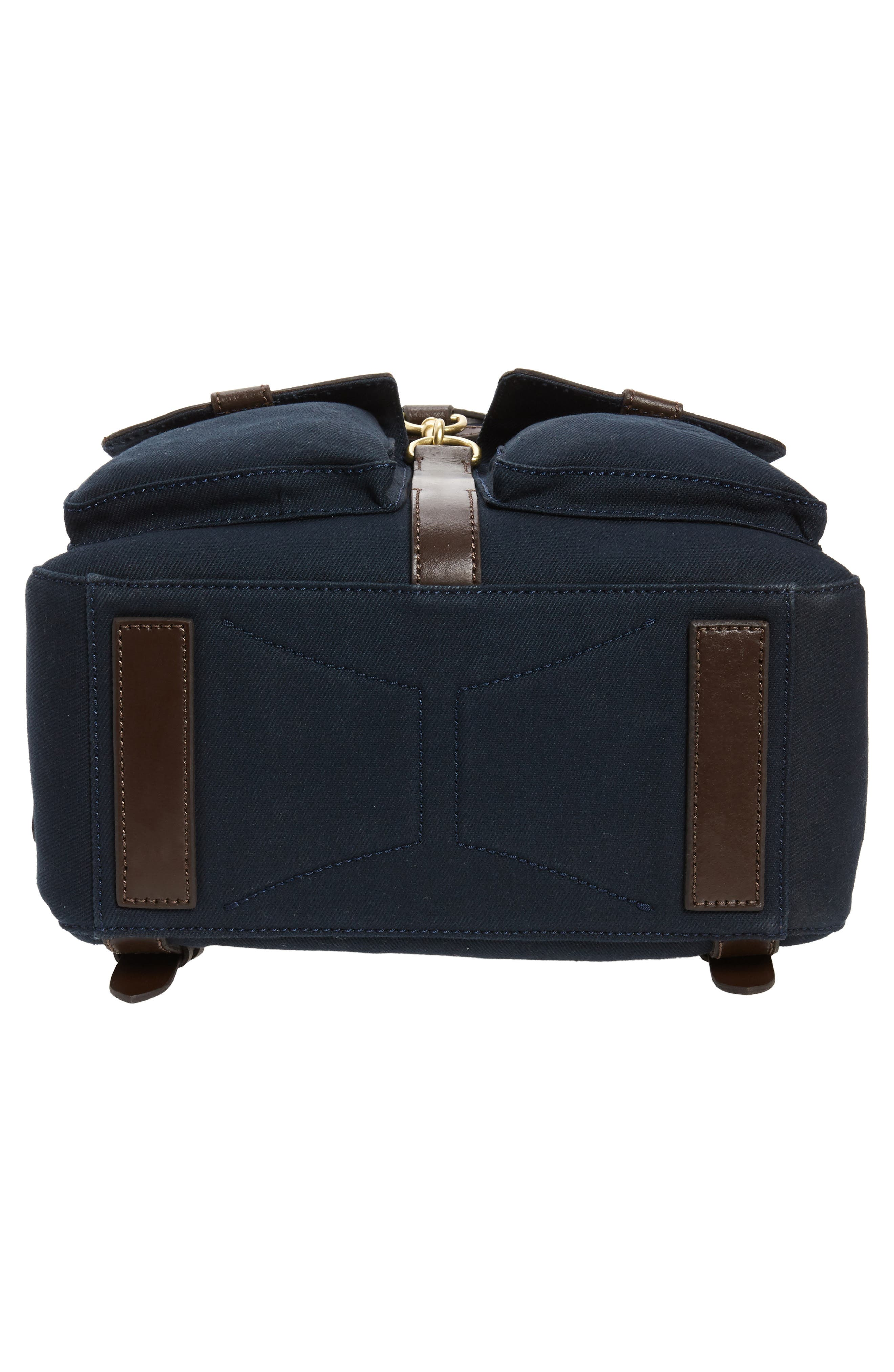 Canvas Backpack,                             Alternate thumbnail 6, color,                             NAVY