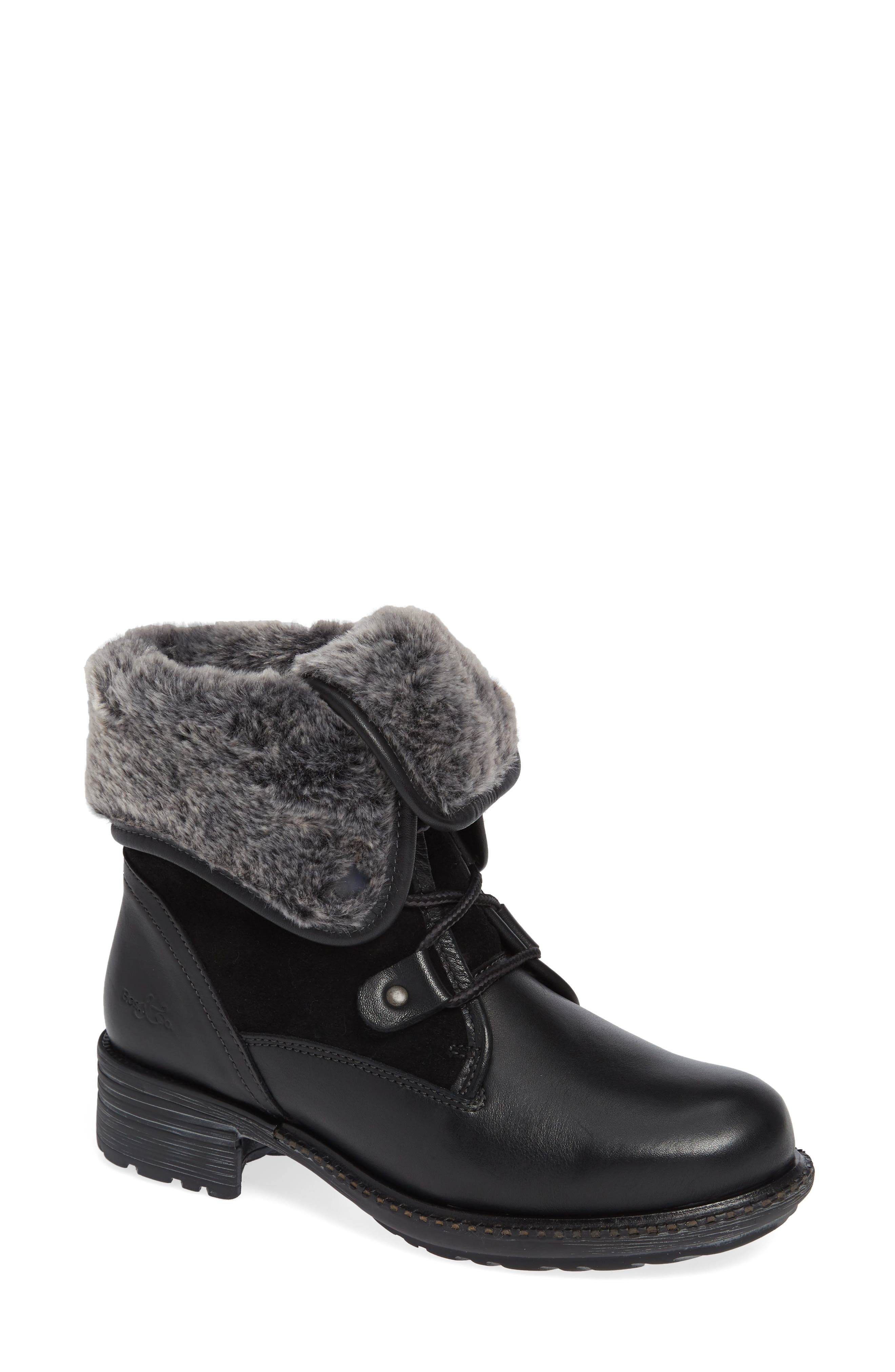Springfield Waterproof Winter Boot,                         Main,                         color, BLACK LEATHER