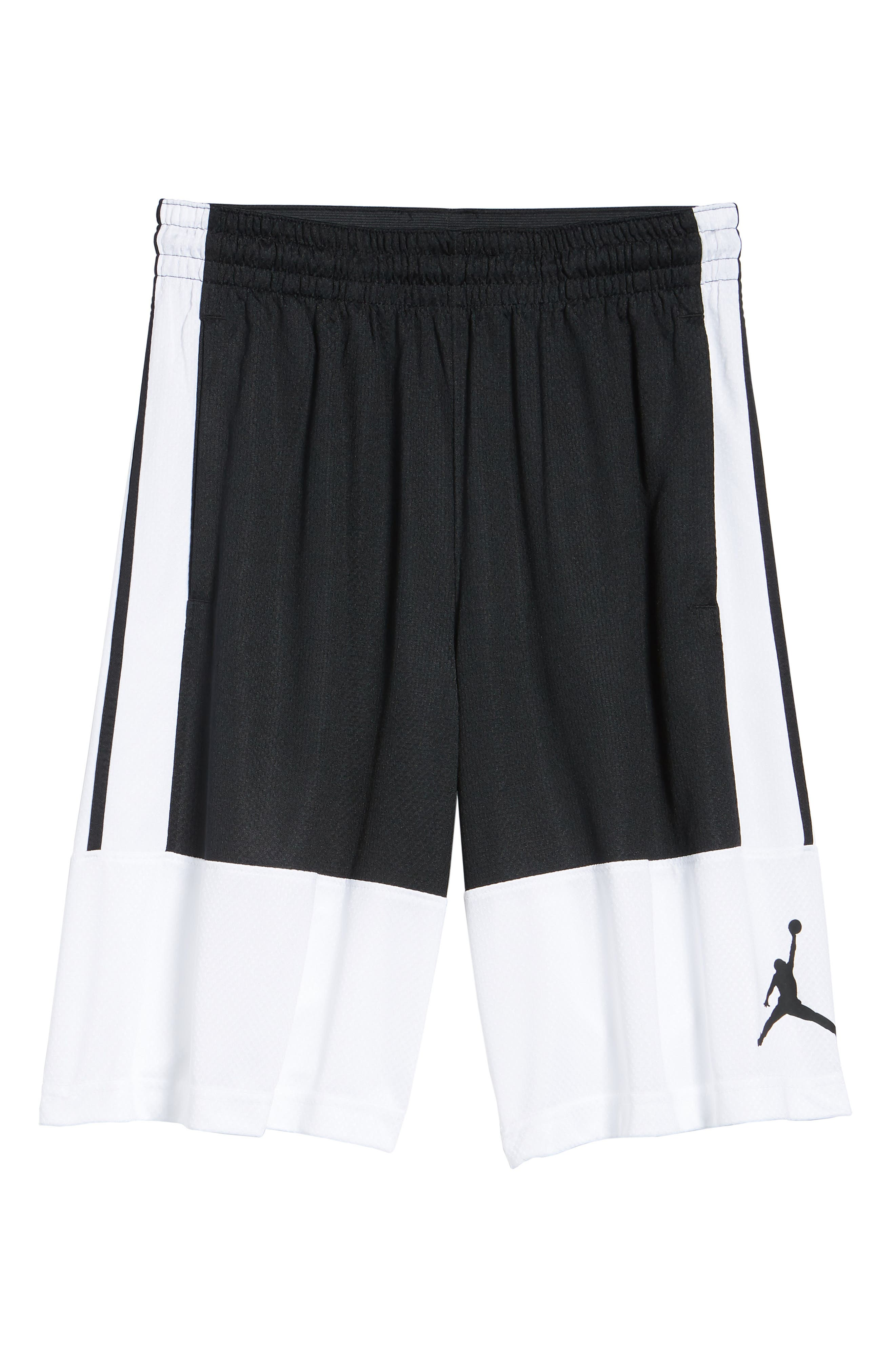 Rise Shorts,                             Alternate thumbnail 6, color,                             WHITE/ BLACK/ BLACK