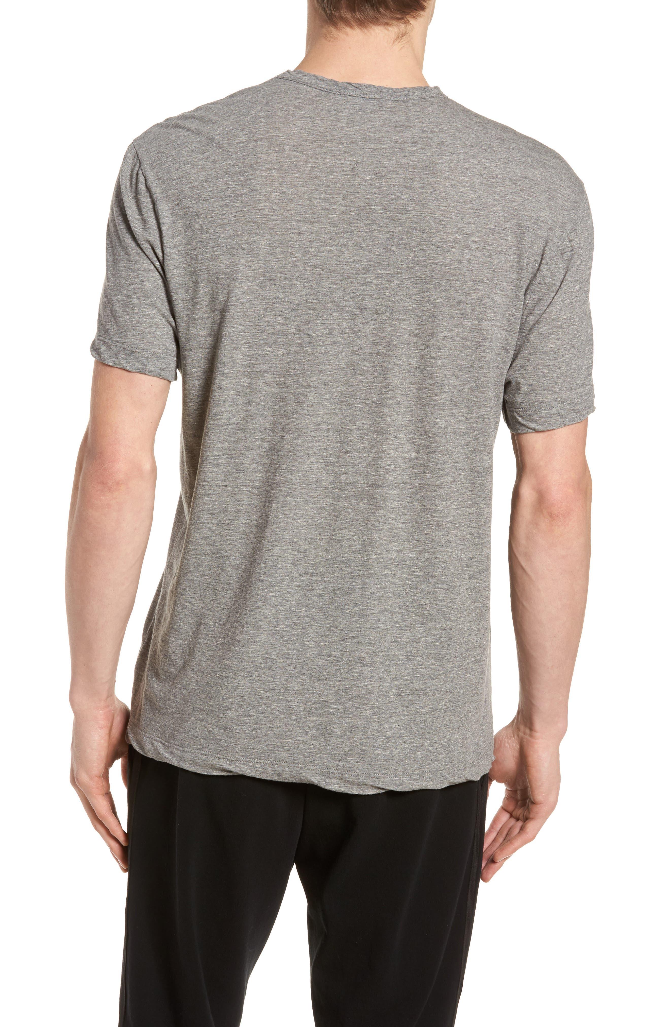 High Twist Regular Fit T-Shirt,                             Alternate thumbnail 2, color,                             HEATHER GREY