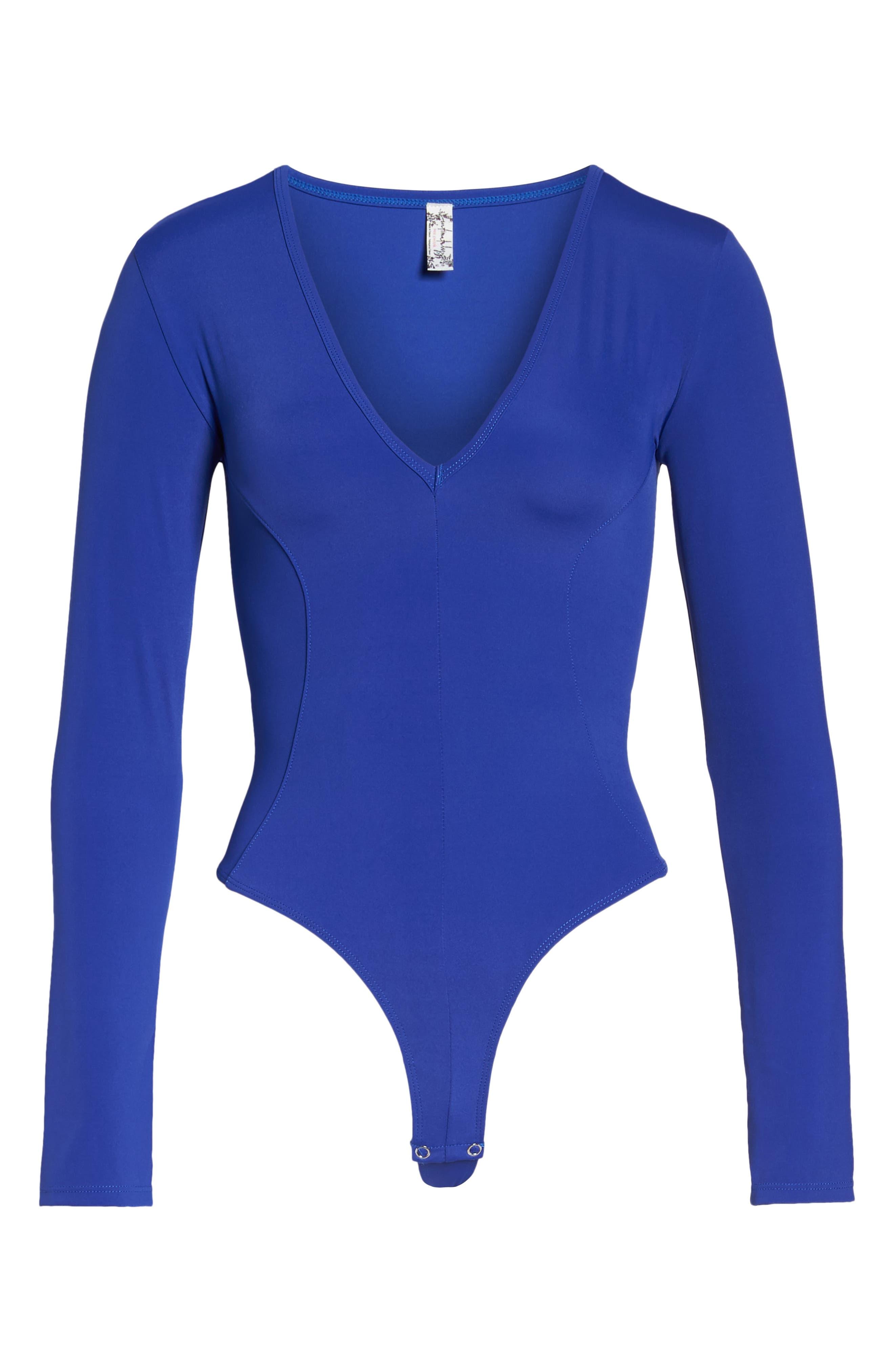 Intimately FP Thong Bodysuit,                             Alternate thumbnail 6, color,                             BLUE