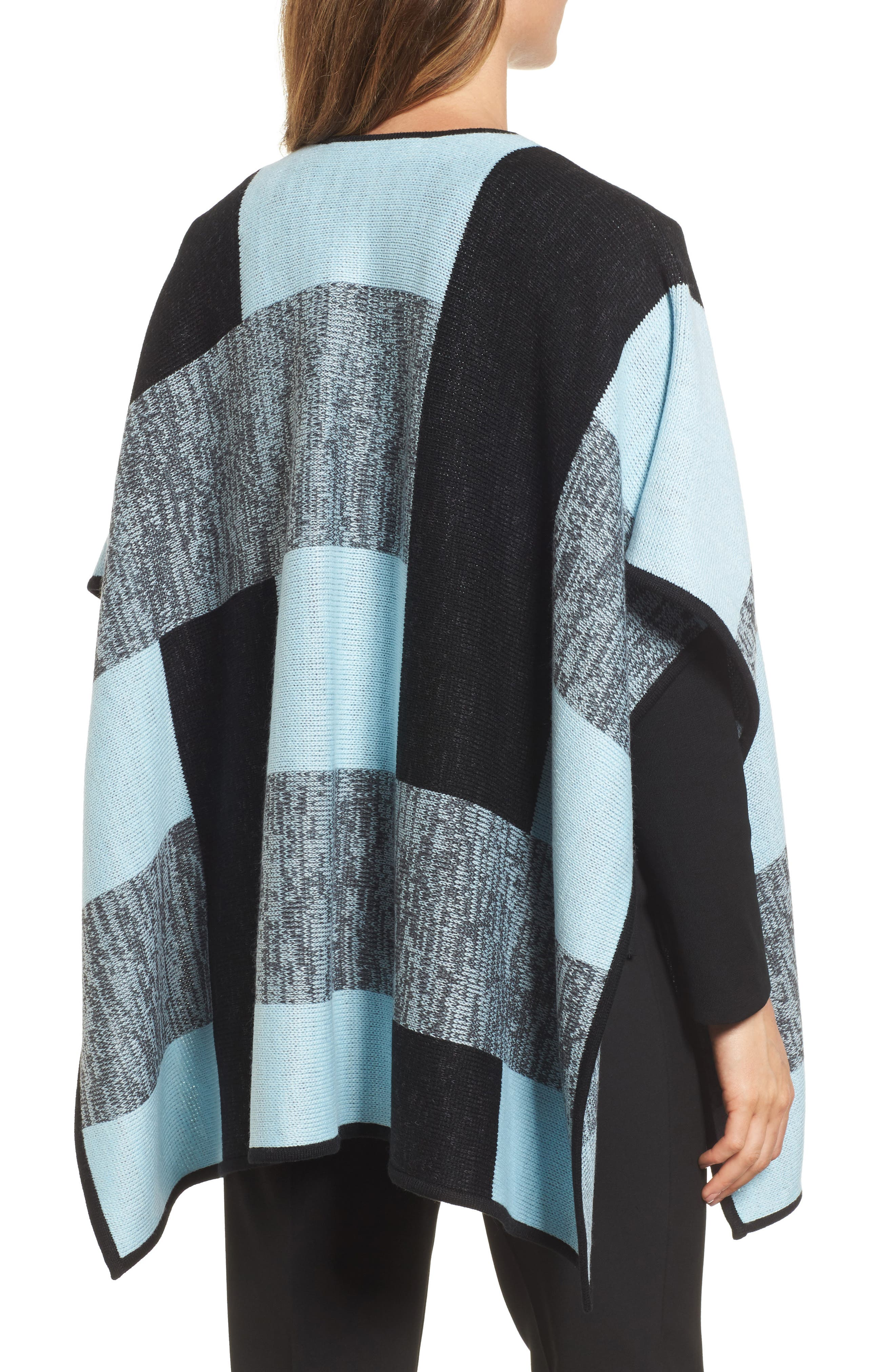 Buckle Front Poncho Cardigan,                             Alternate thumbnail 2, color,