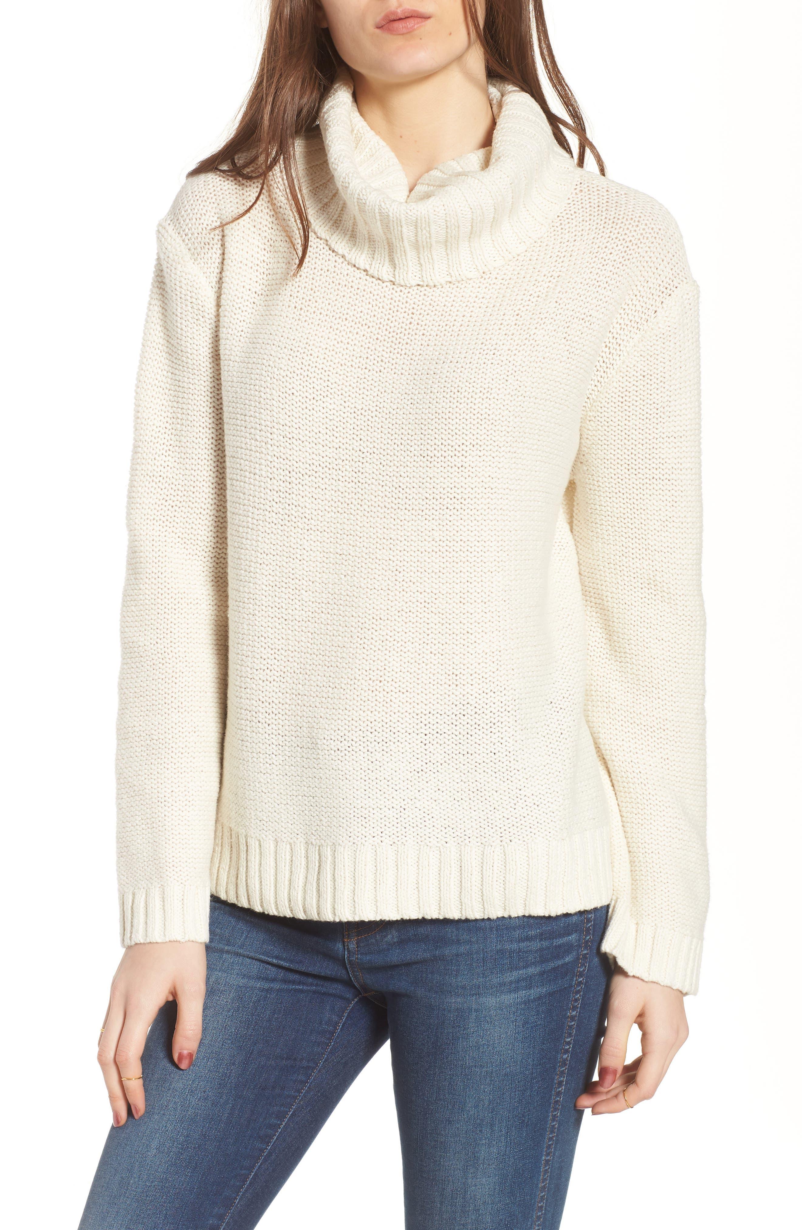 Flecked Turtleneck Sweater,                         Main,                         color, 100