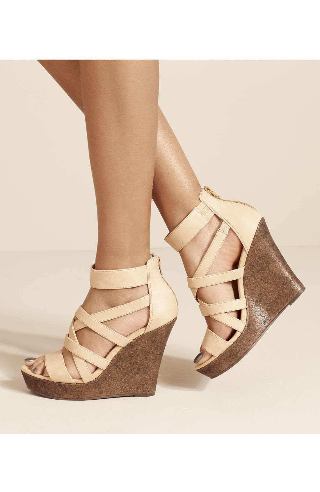 'Tell You What' Wedge Sandal,                             Main thumbnail 1, color,                             341