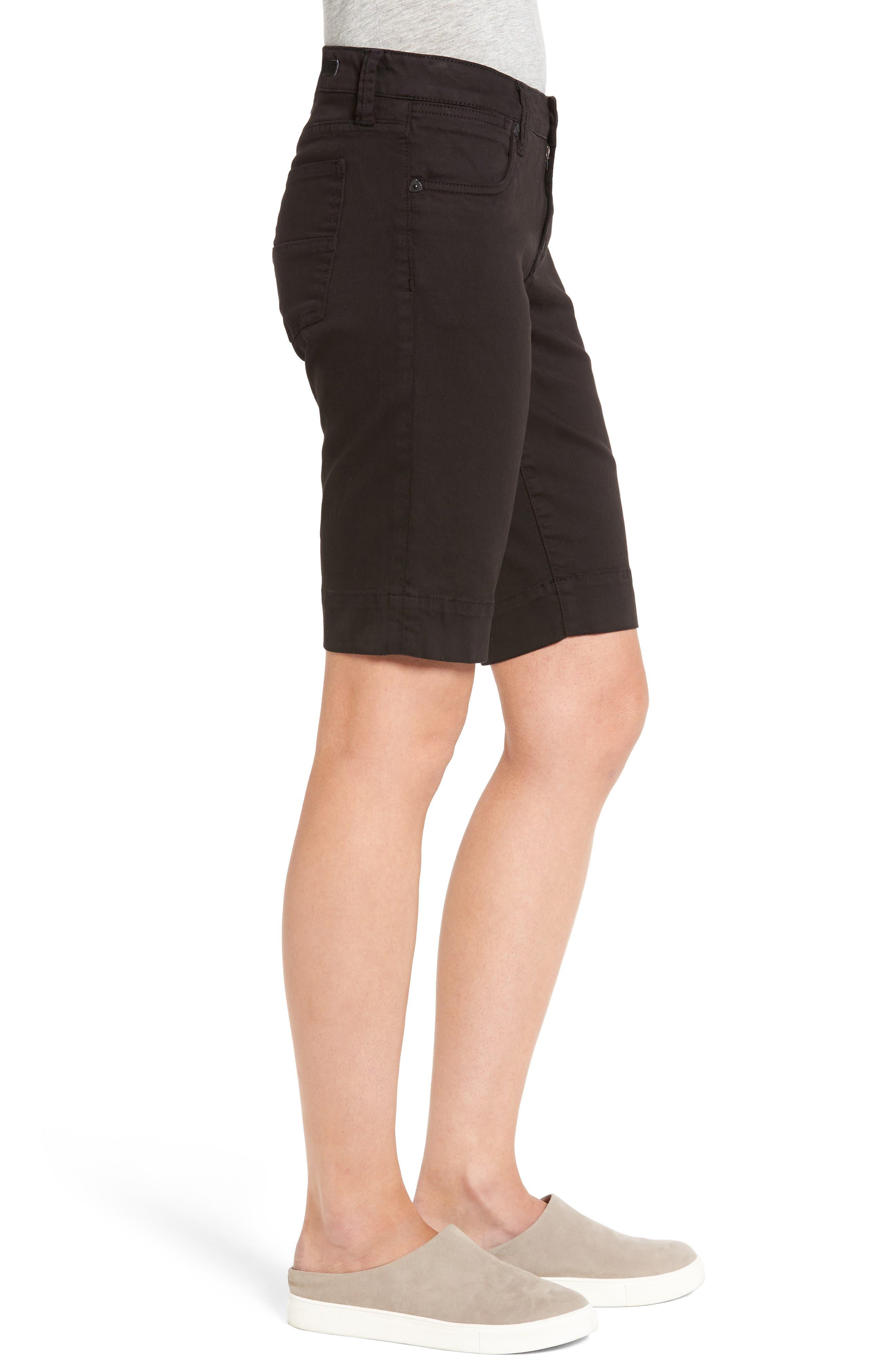 'Natalie' Twill Bermuda Shorts,                             Alternate thumbnail 4, color,                             001
