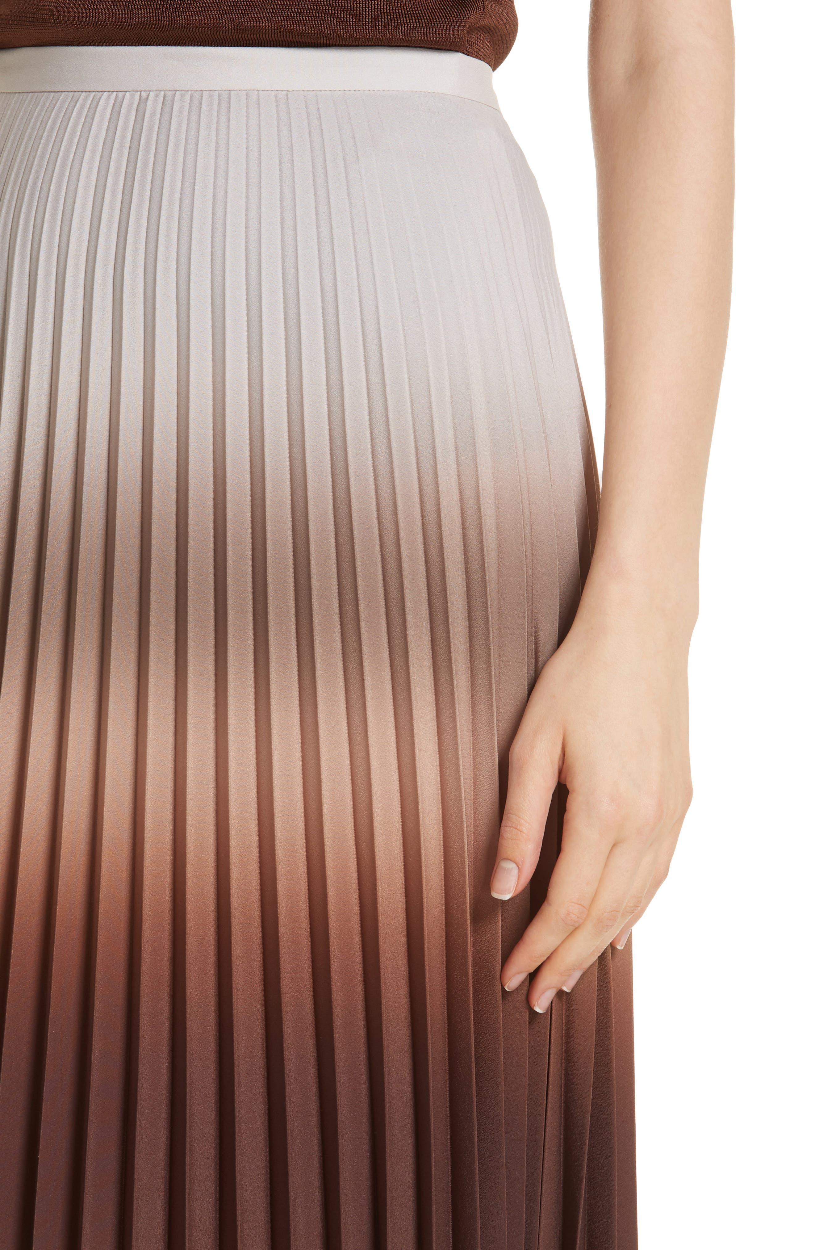 MAX MARA,                             Abatina Maxi Skirt,                             Alternate thumbnail 4, color,                             TOBACCO