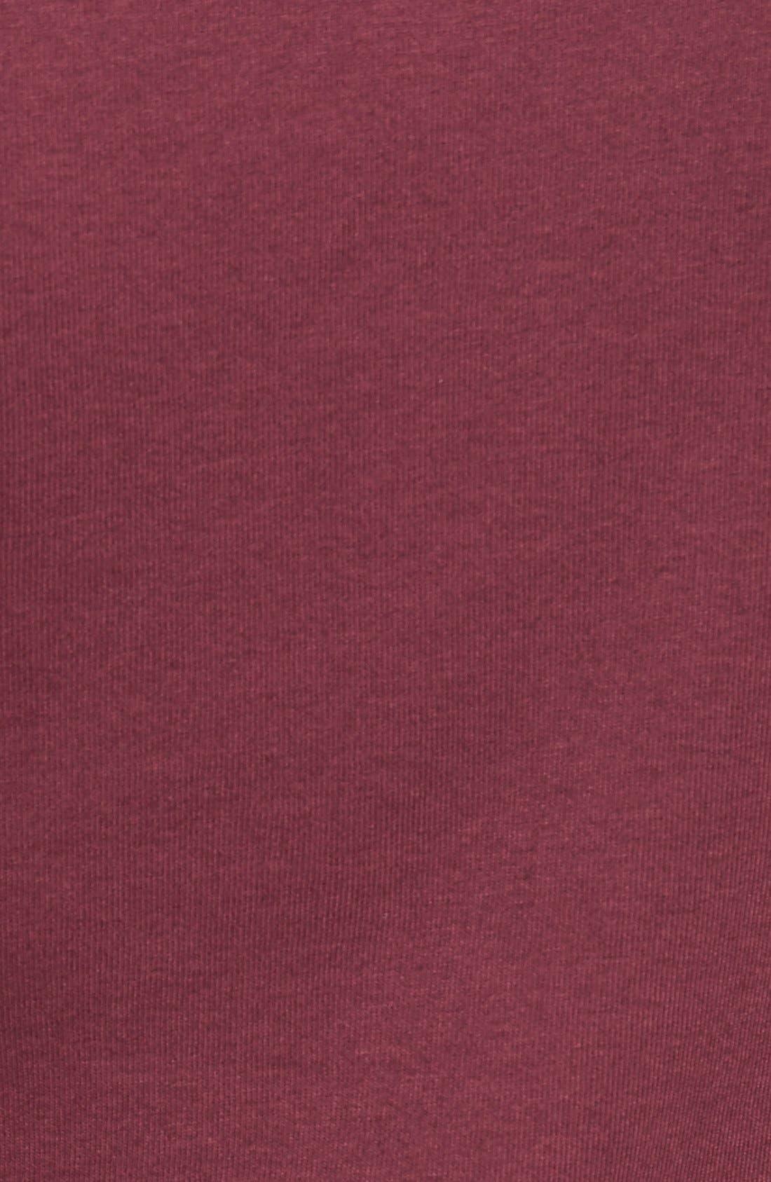 Ballet Neck Cotton & Modal Knit Elbow Sleeve Tee,                             Alternate thumbnail 265, color,