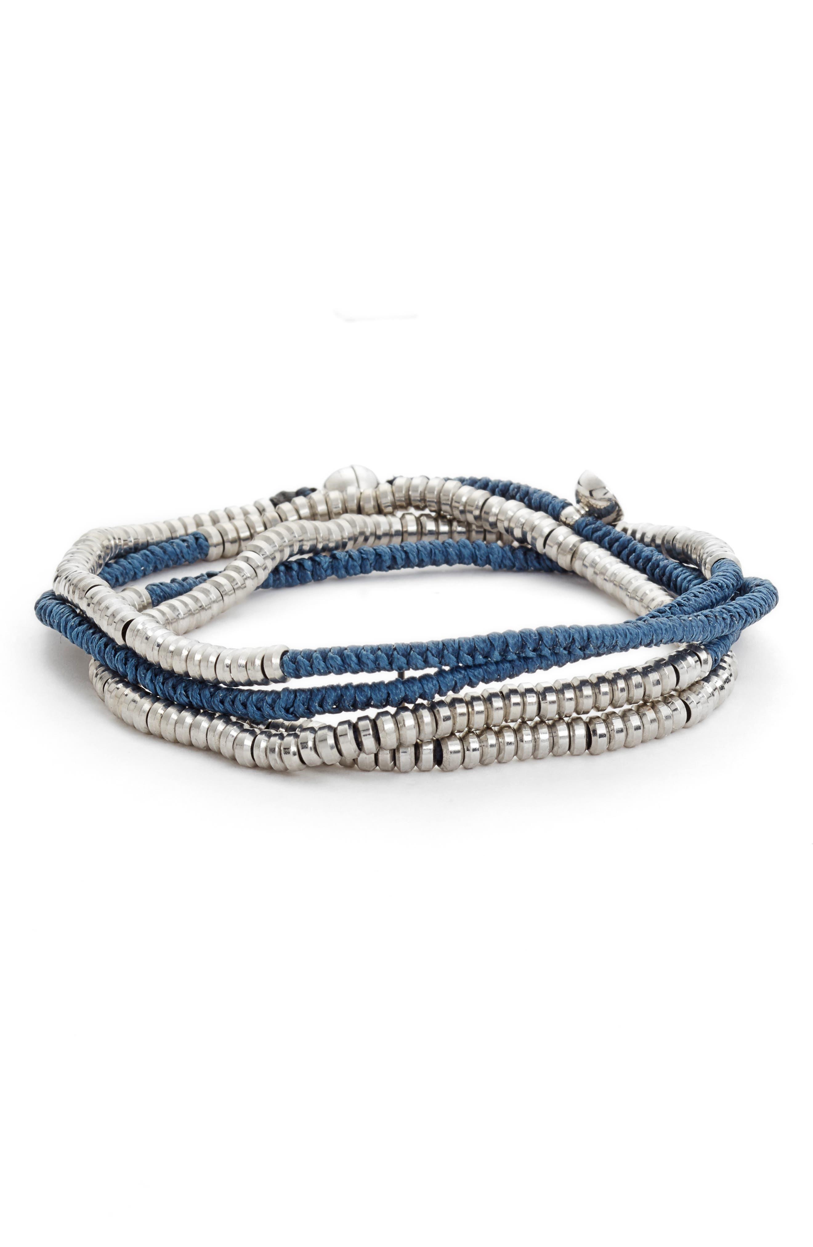 Heishi Wrap Bracelet,                             Main thumbnail 4, color,
