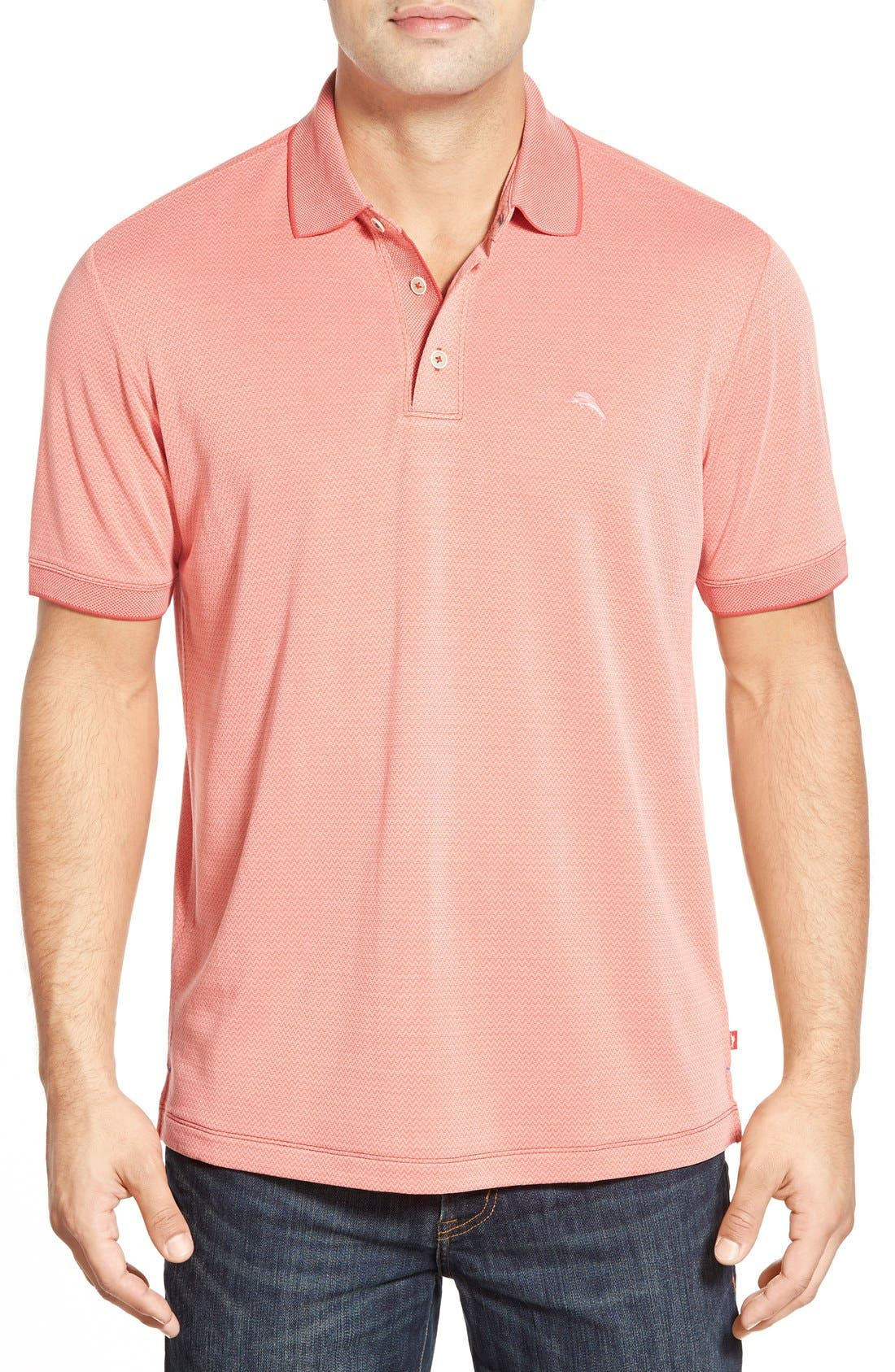 Ocean View Short Sleeve Jacquard Polo,                             Main thumbnail 9, color,