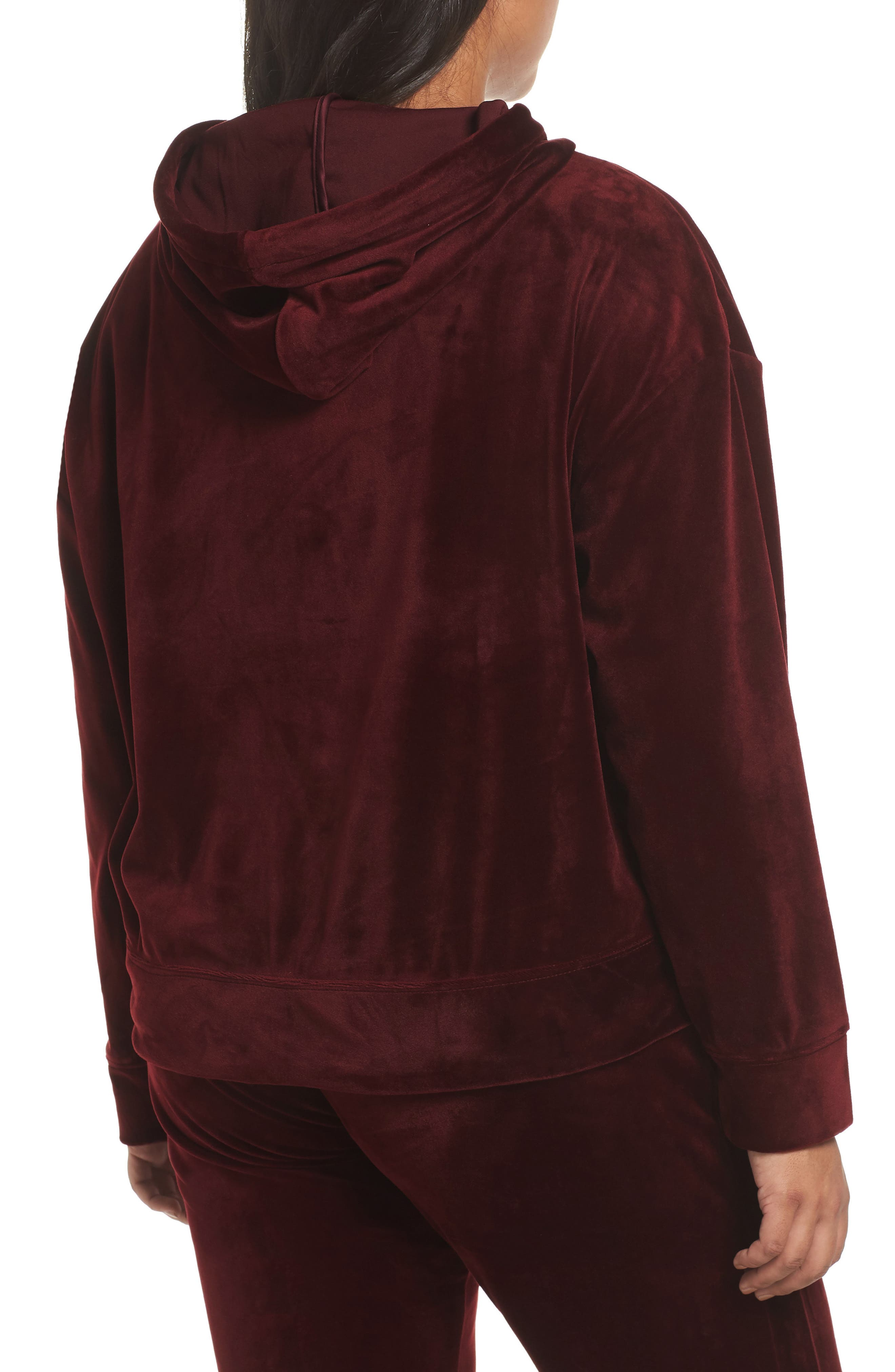 Melrose Brigade Velour Hoodie Sweater,                             Alternate thumbnail 5, color,                             SCARLET