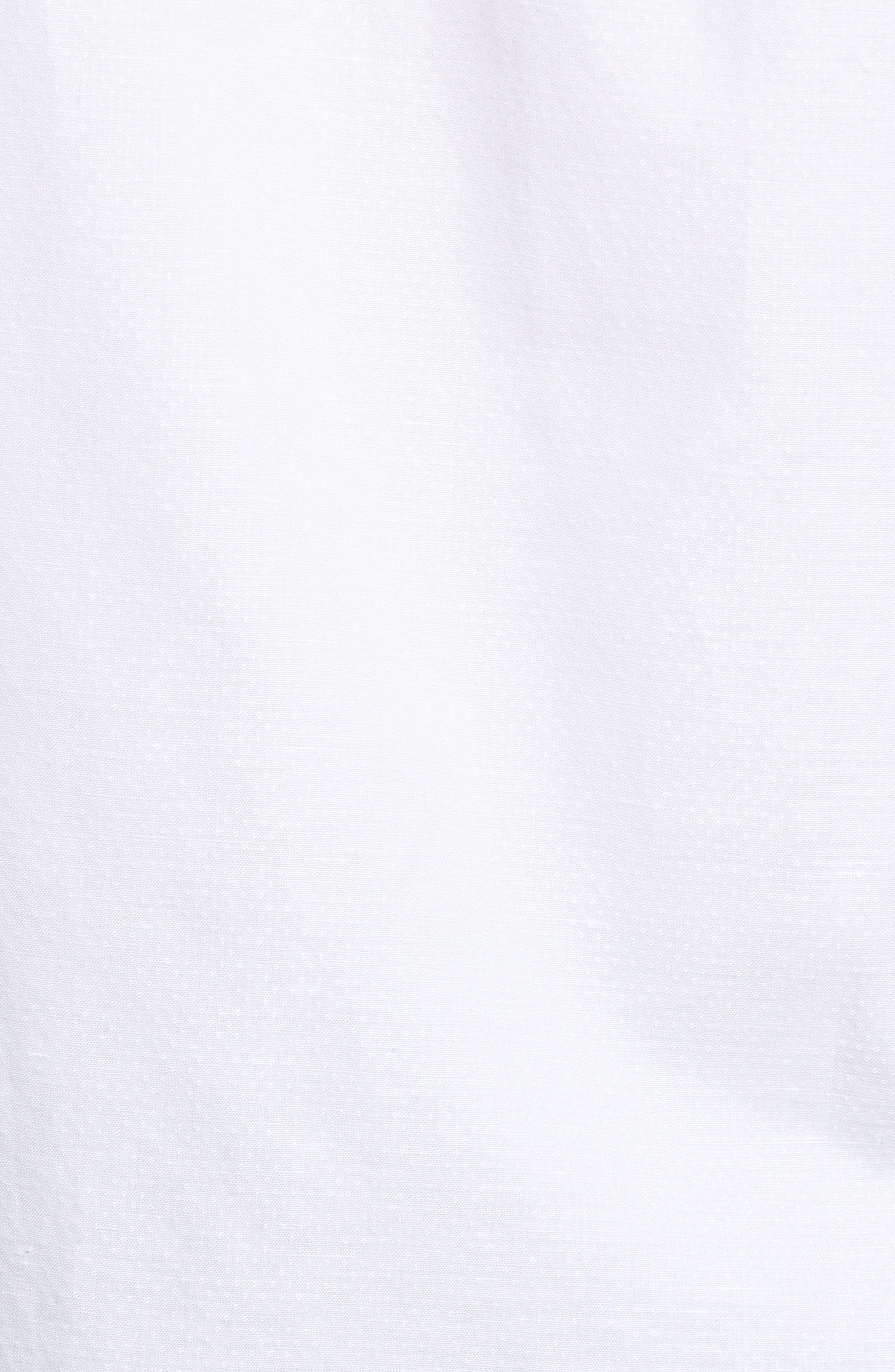 Dobby Cotton & Linen Sport Shirt,                             Alternate thumbnail 18, color,