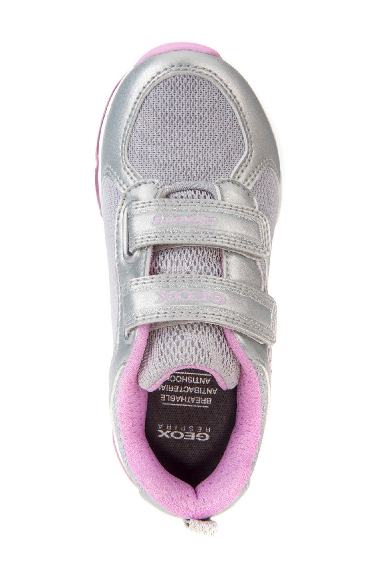 Android Light-Up Sneaker,                             Alternate thumbnail 5, color,                             SILVER/ PINK