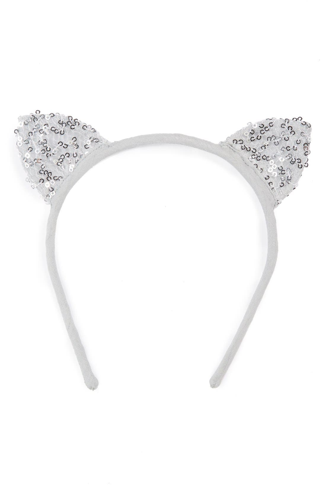Meow'Sequin Headband,                         Main,                         color,