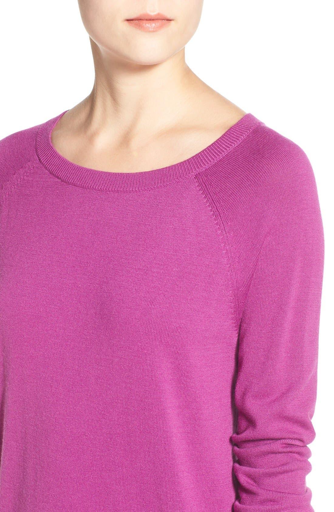 Raglan Crewneck Sweater,                             Alternate thumbnail 6, color,                             510