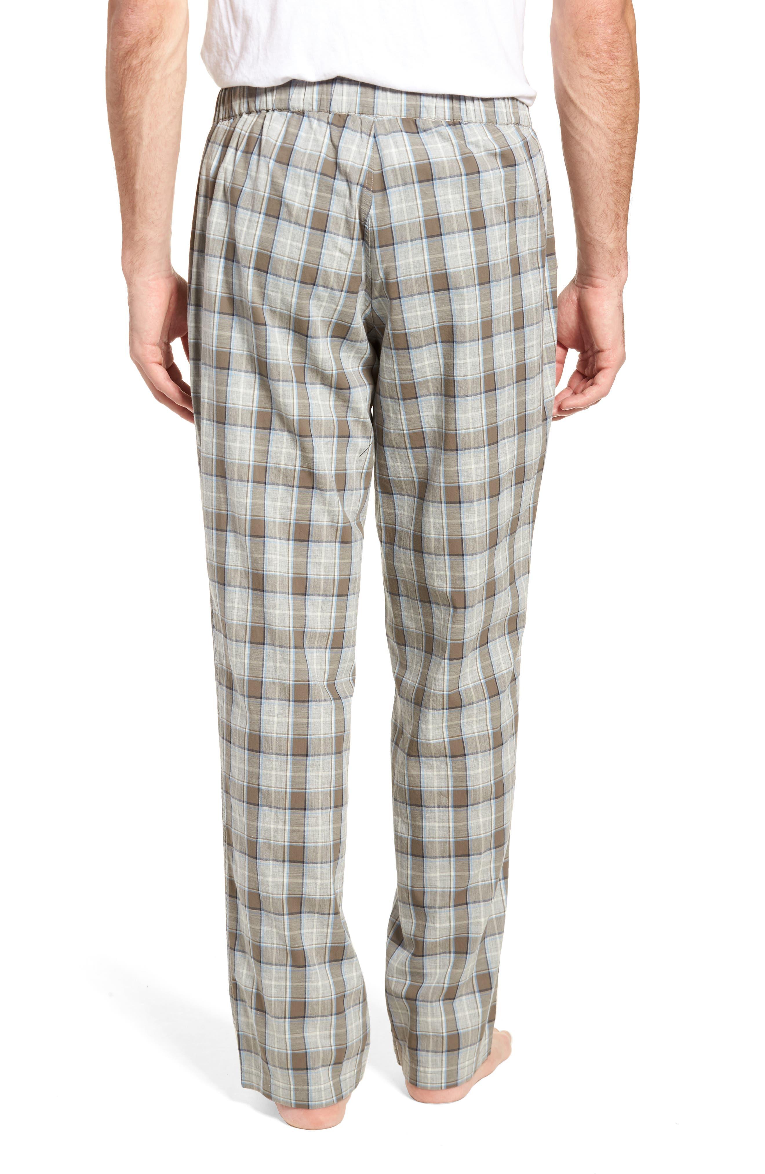 Flynn Plaid Cotton Lounge Pants,                             Alternate thumbnail 3, color,