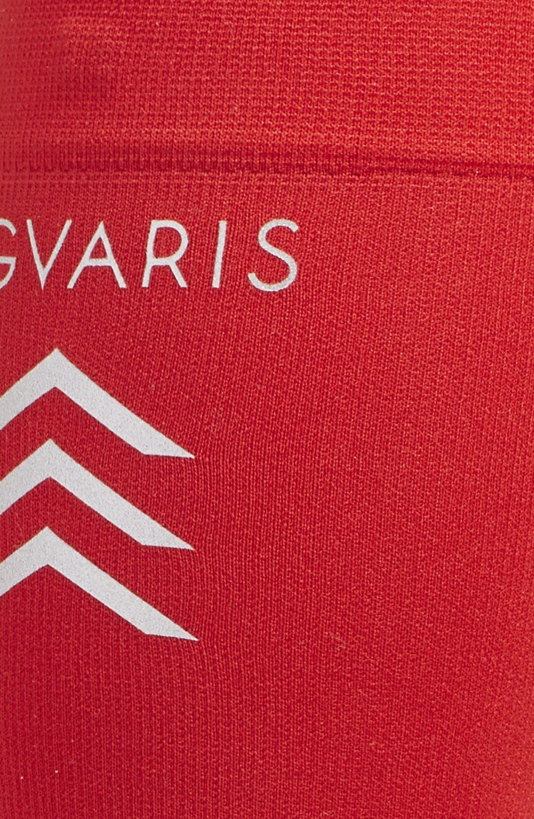 'Sports' Graduated Compression Performance Calf Sleeve,                             Alternate thumbnail 3, color,                             RED