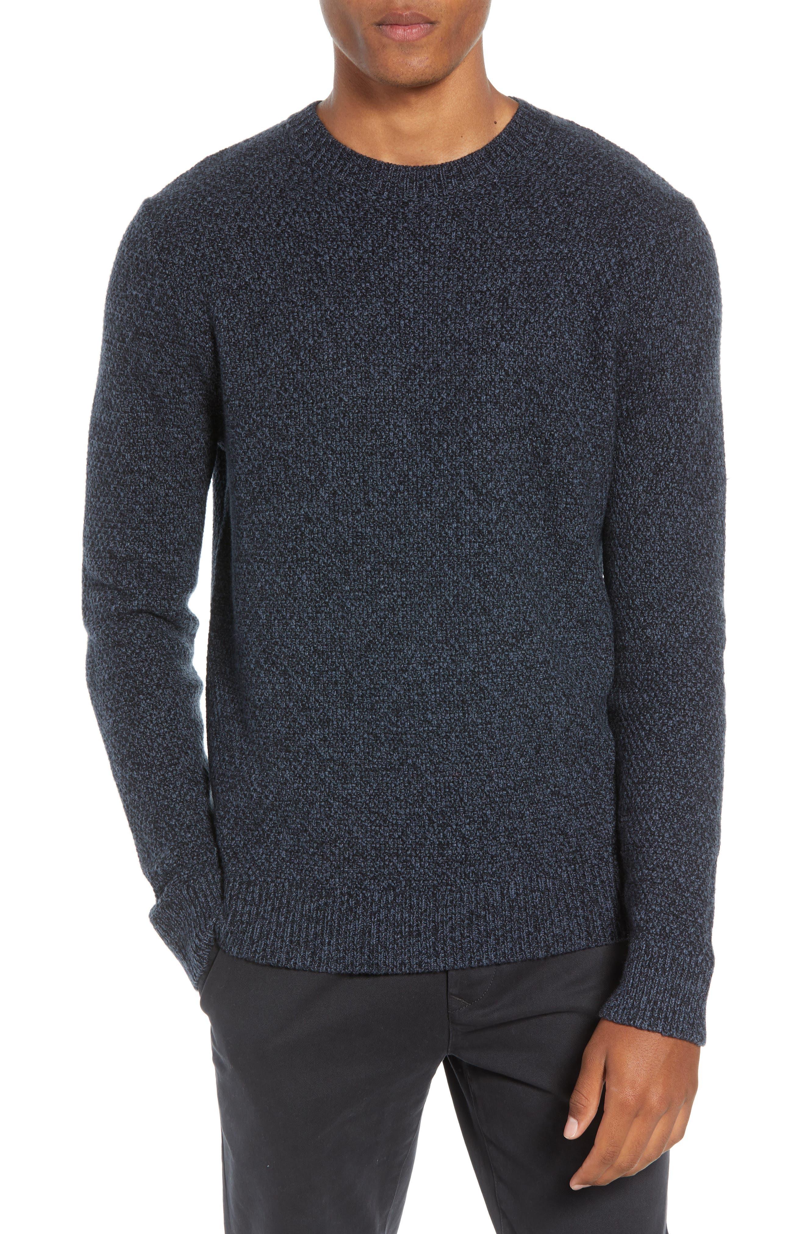 Montreal Slim Fit Crewneck Sweater,                             Main thumbnail 1, color,                             NAVY
