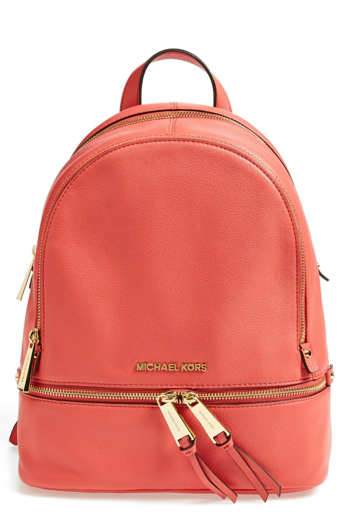 'Extra Small Rhea Zip' Leather Backpack,                             Main thumbnail 10, color,