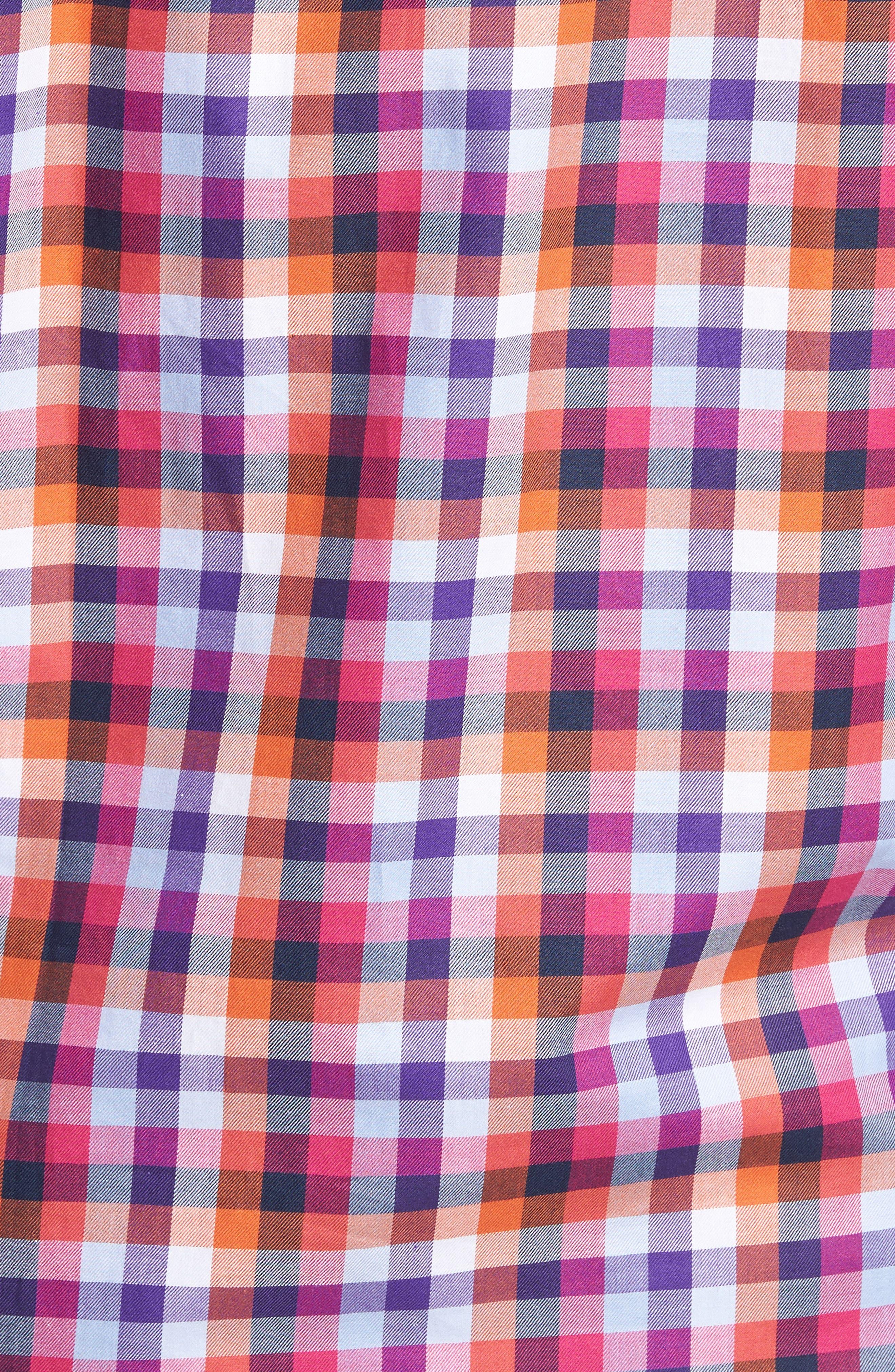 Baker Check Sport Shirt,                             Alternate thumbnail 5, color,                             410