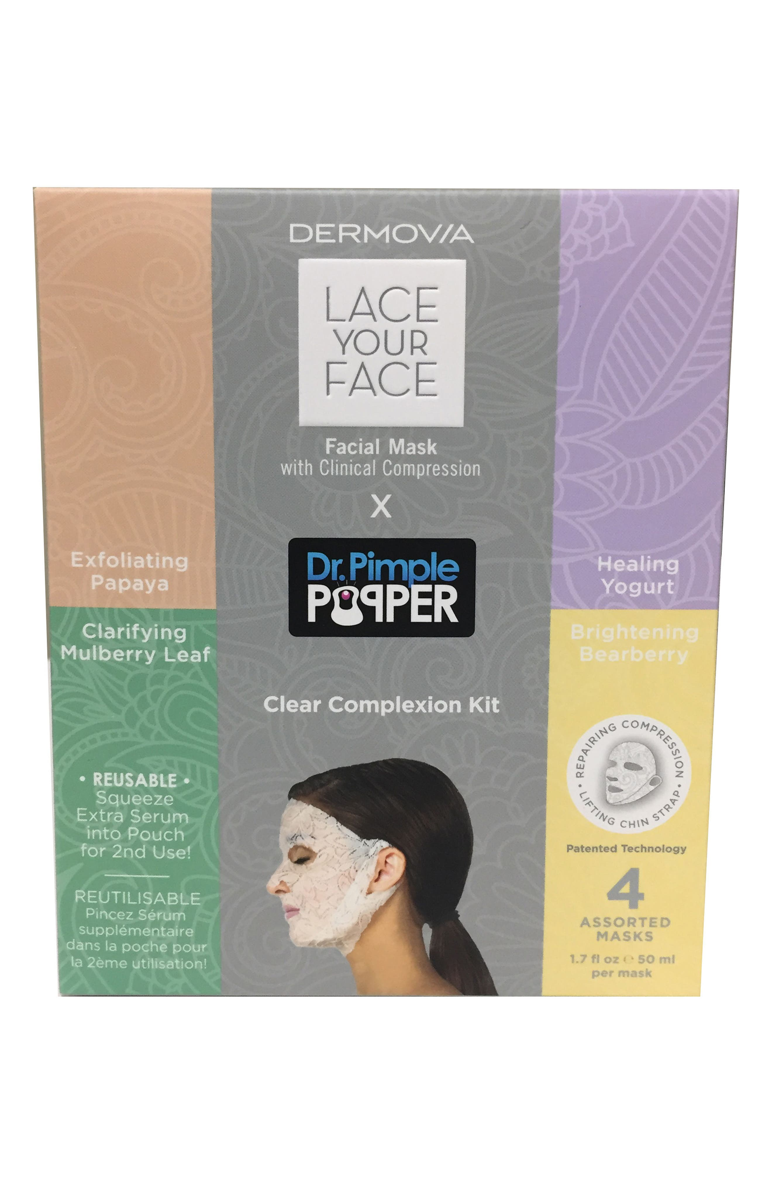 Lace Your Face by Dr. Pimple Popper Clear Complexion Kit,                             Alternate thumbnail 2, color,                             000