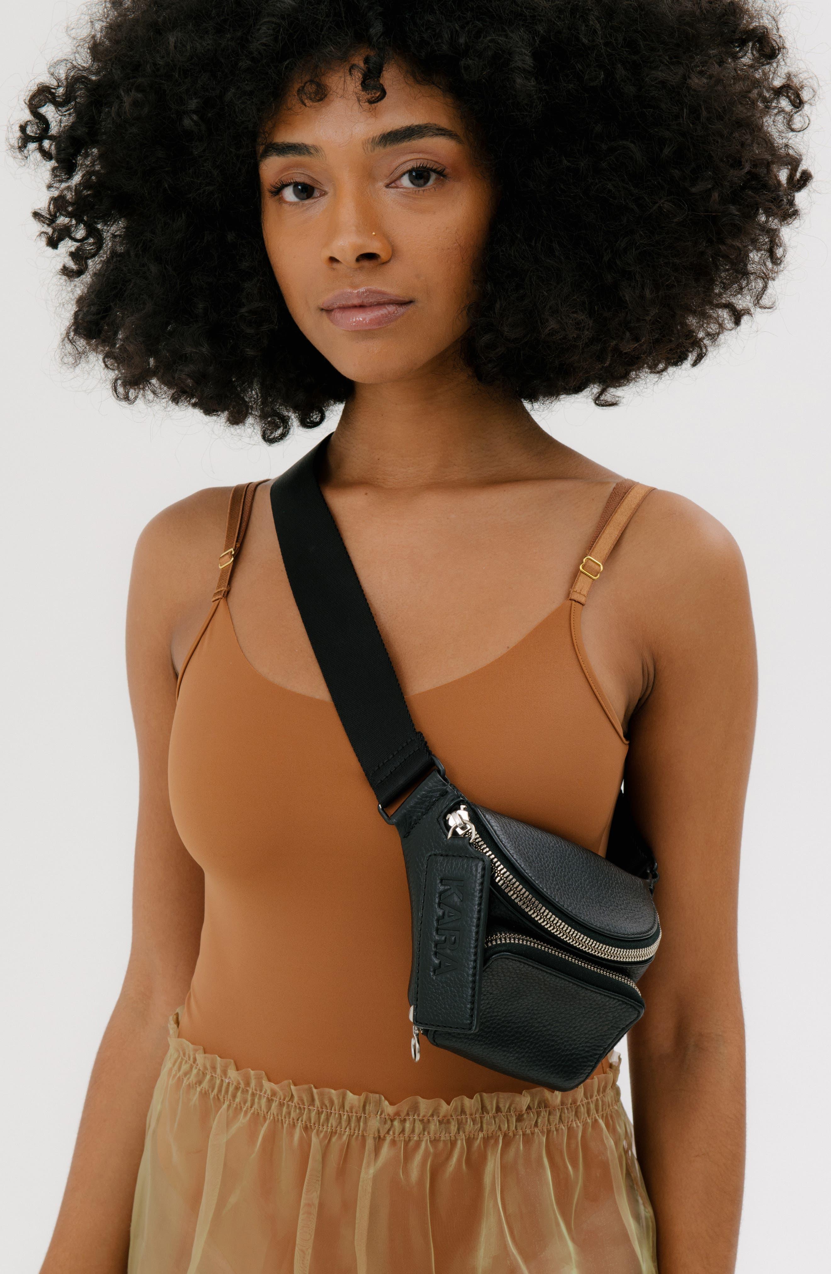 Leather Bum Bag,                             Alternate thumbnail 2, color,                             001