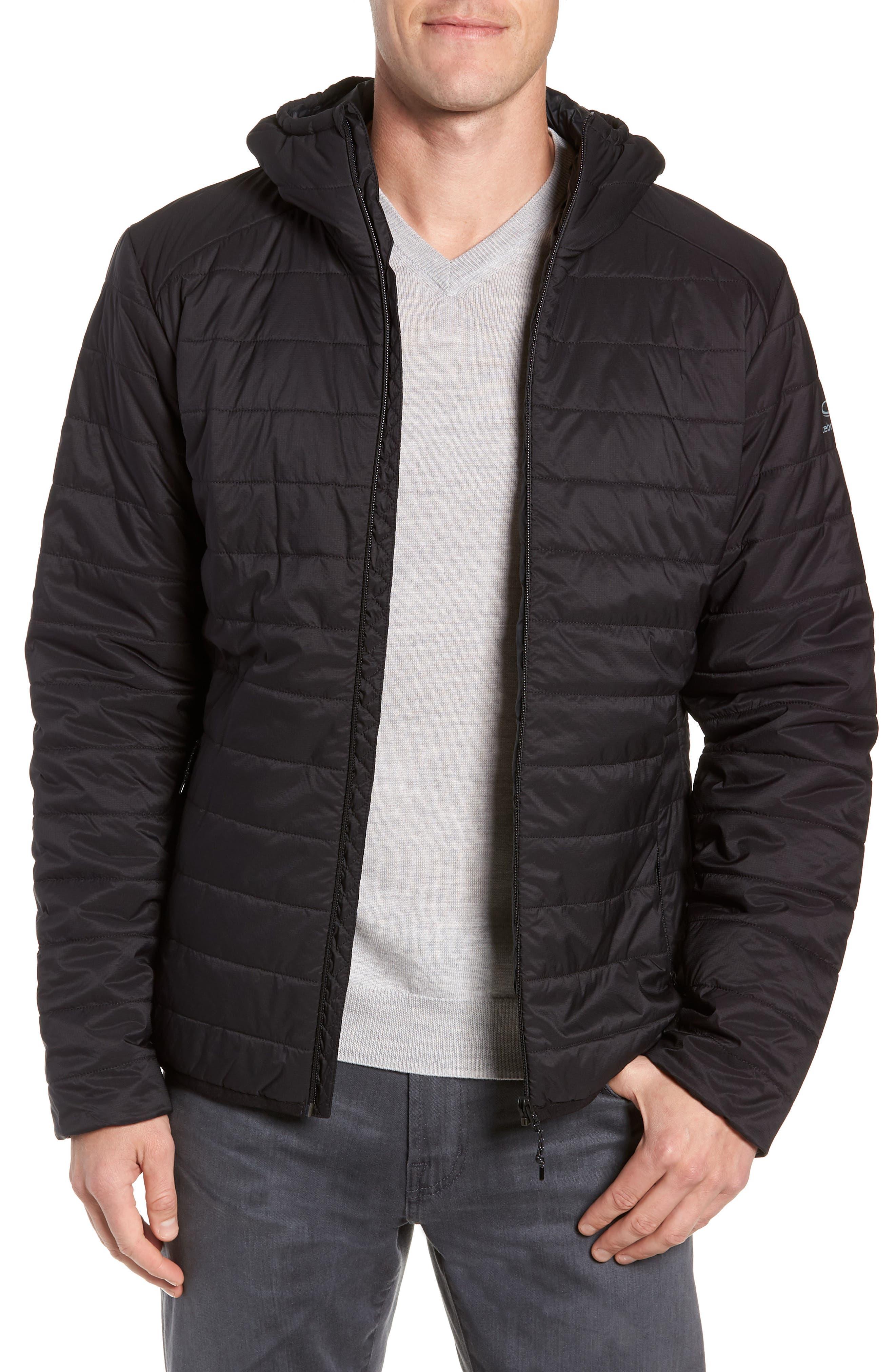 Hyperia MerinoLOFT<sup>™</sup> Hooded Jacket,                             Main thumbnail 1, color,                             BLACK