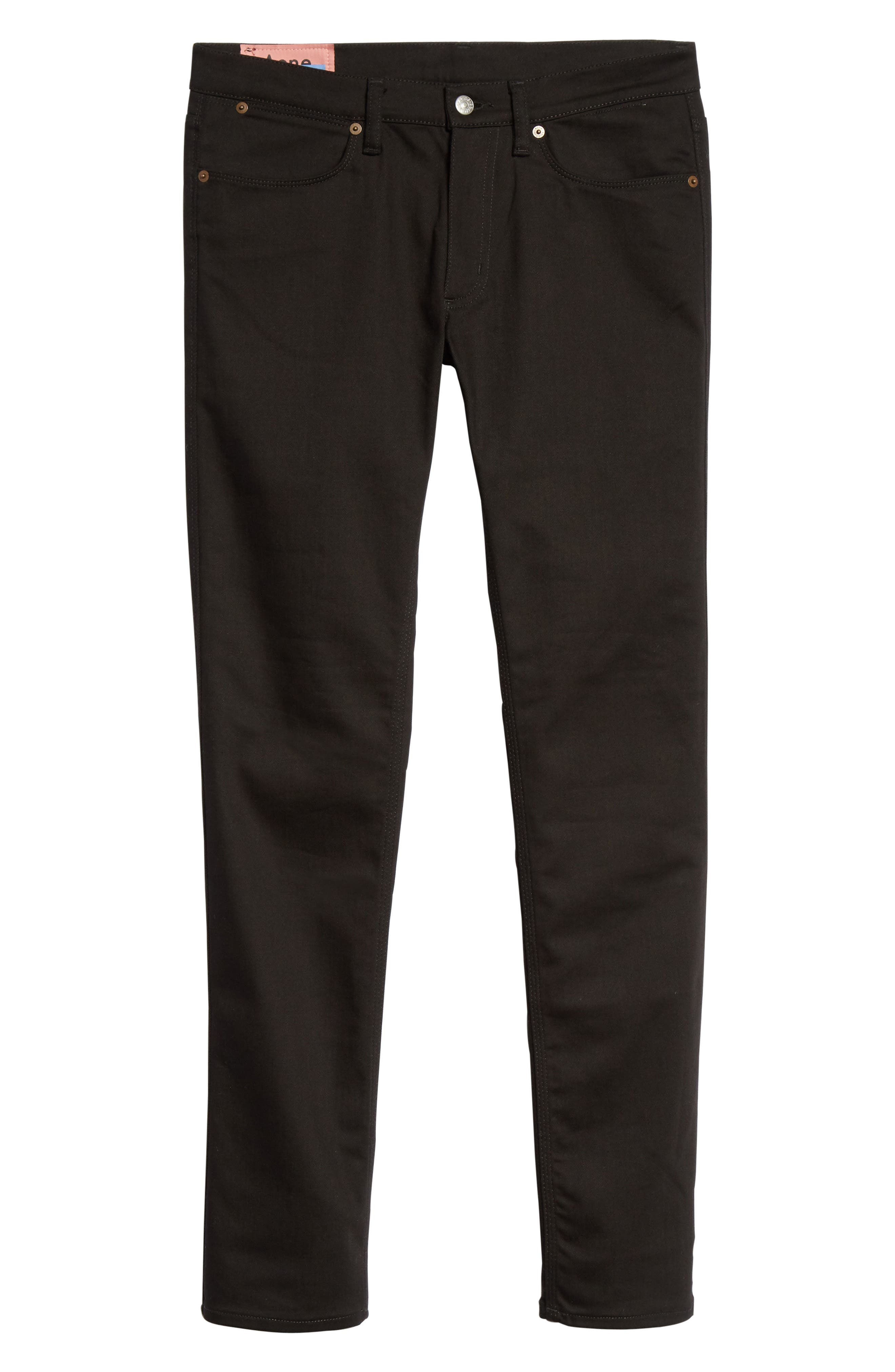 River Used Mamba Skinny Fit Jeans,                             Alternate thumbnail 6, color,                             BLACK