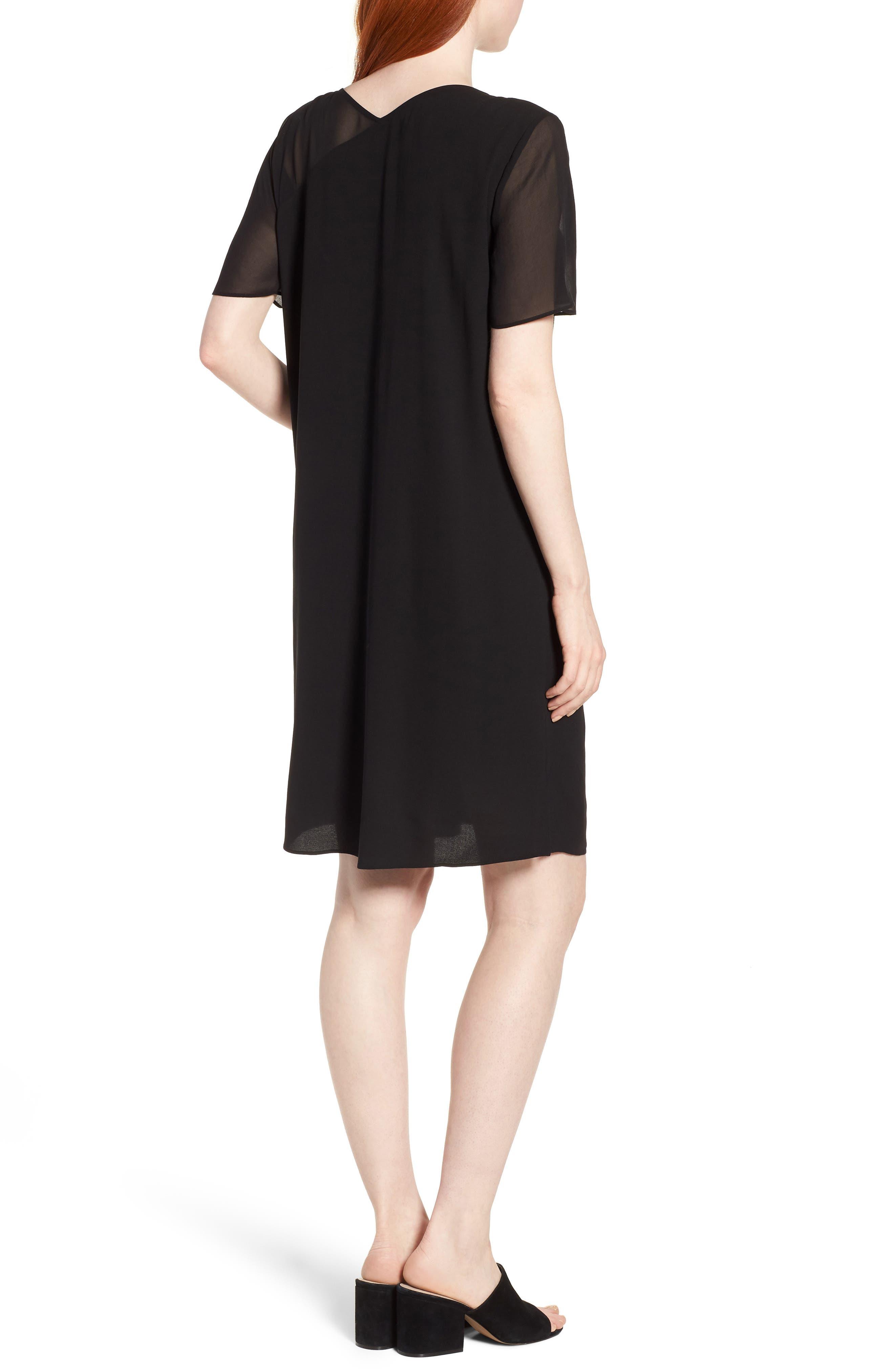 Silk Shift Dress,                             Alternate thumbnail 2, color,