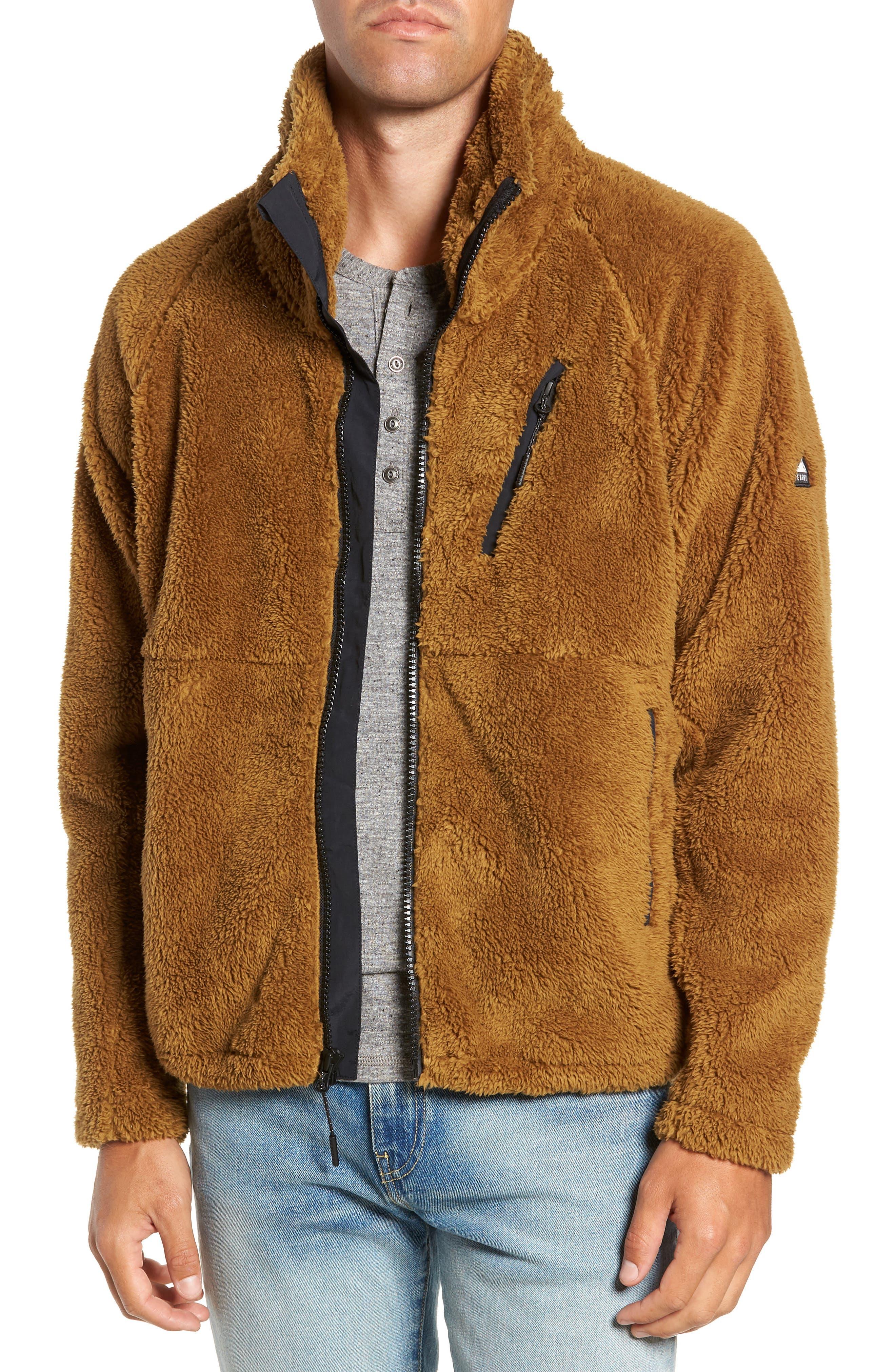Breakheart Zip Fleece Jacket,                             Main thumbnail 1, color,                             BREEN