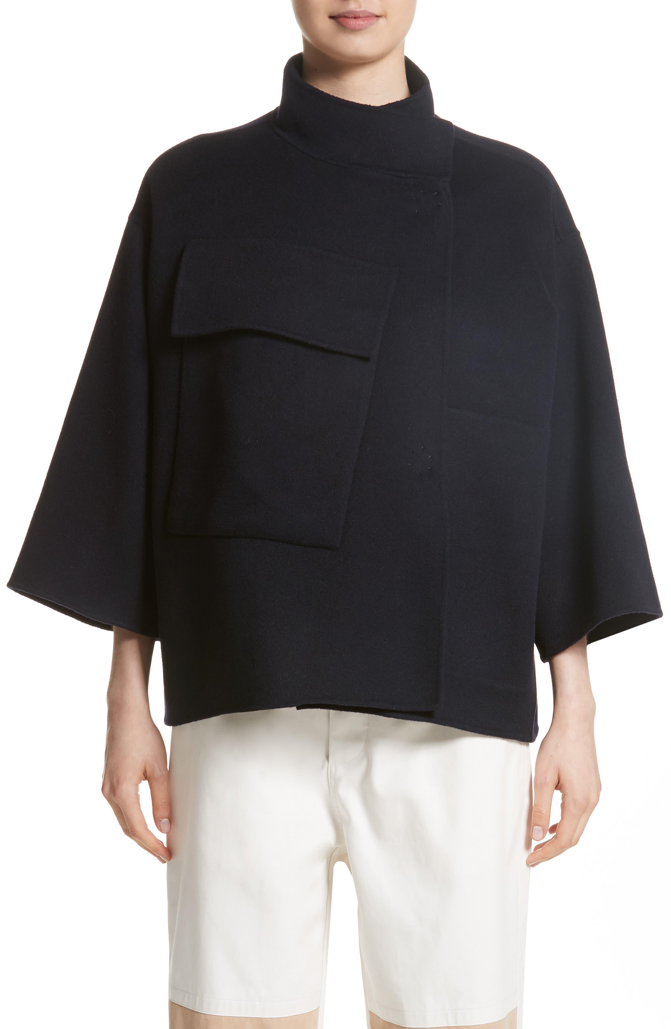 Crop Wool & Cashmere Jacket,                         Main,                         color, 410
