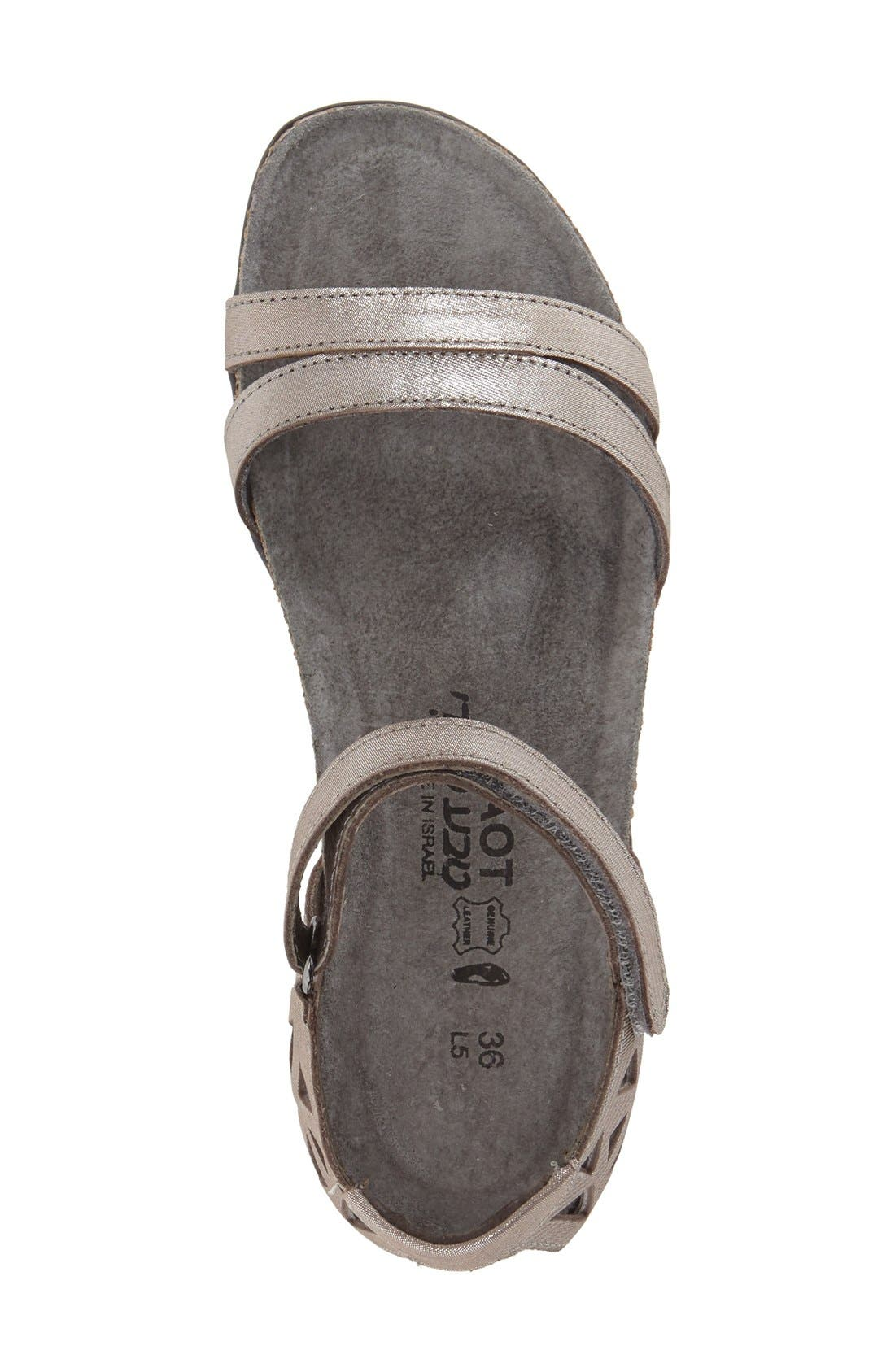 'Bonnie' Sandal,                             Alternate thumbnail 3, color,                             SILVER THREADS LEATHER