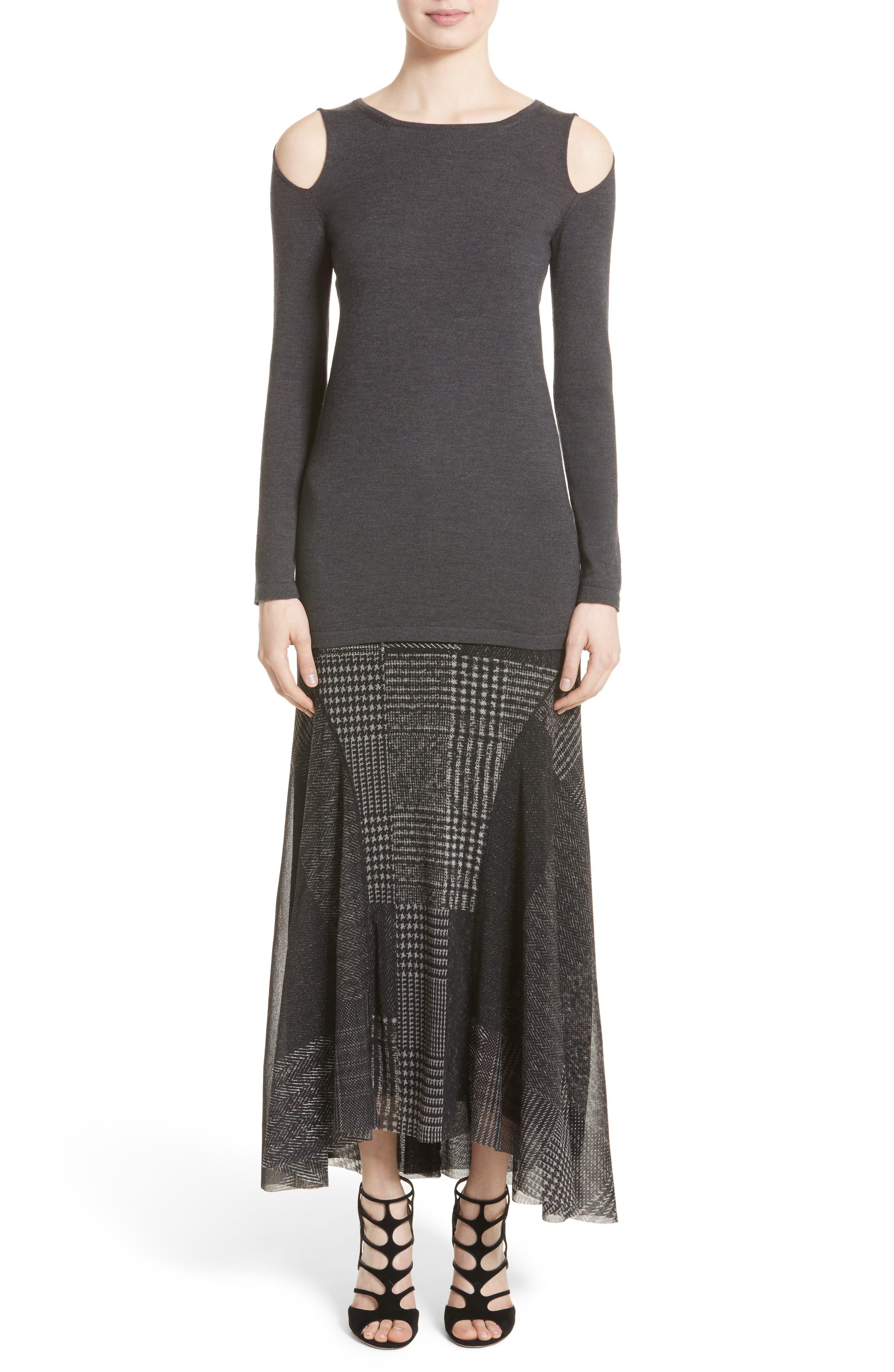 Tulle Maxi Skirt,                             Alternate thumbnail 6, color,                             001