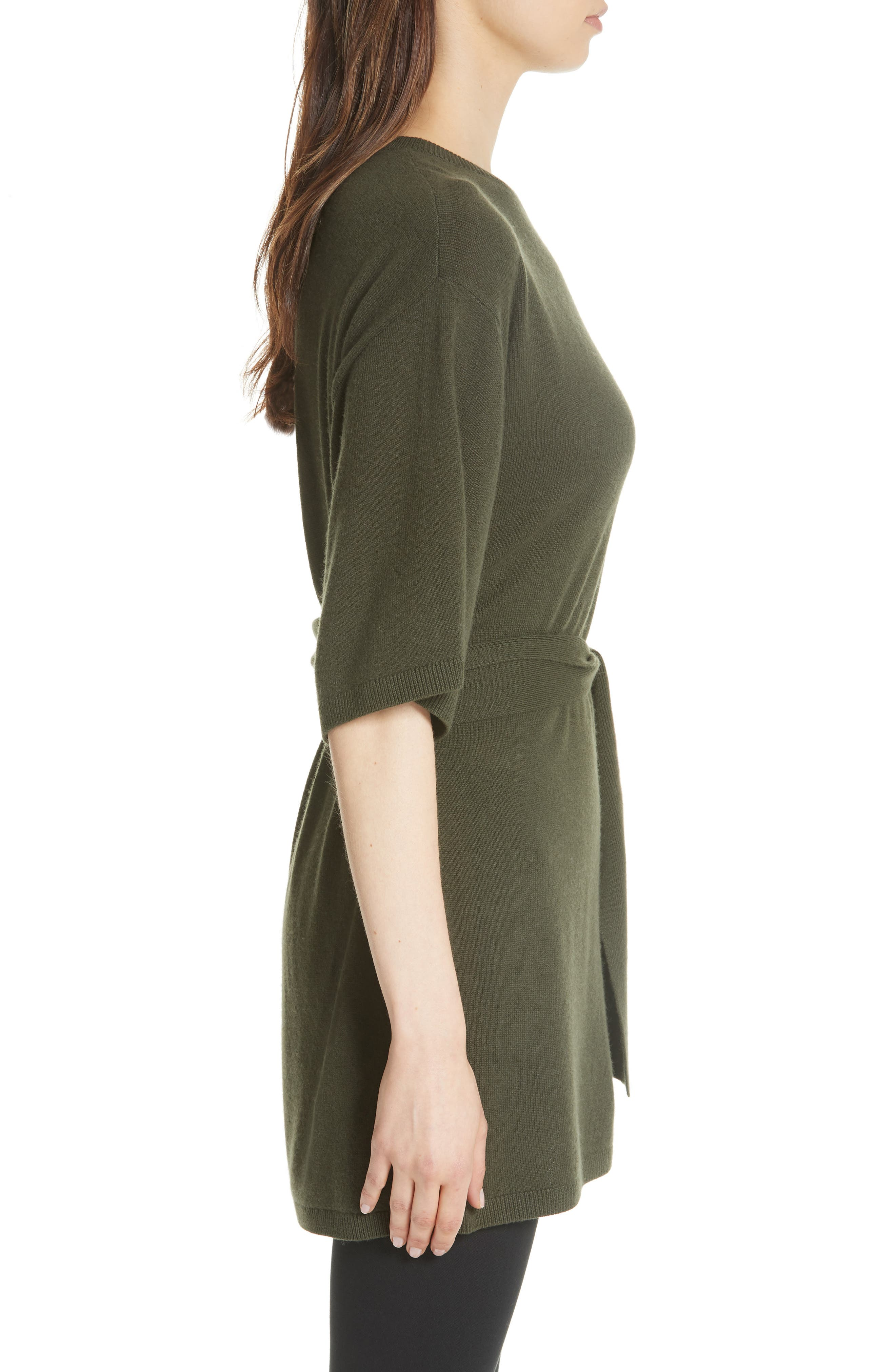 Olympy Tie Front Knit Tunic,                             Alternate thumbnail 5, color,