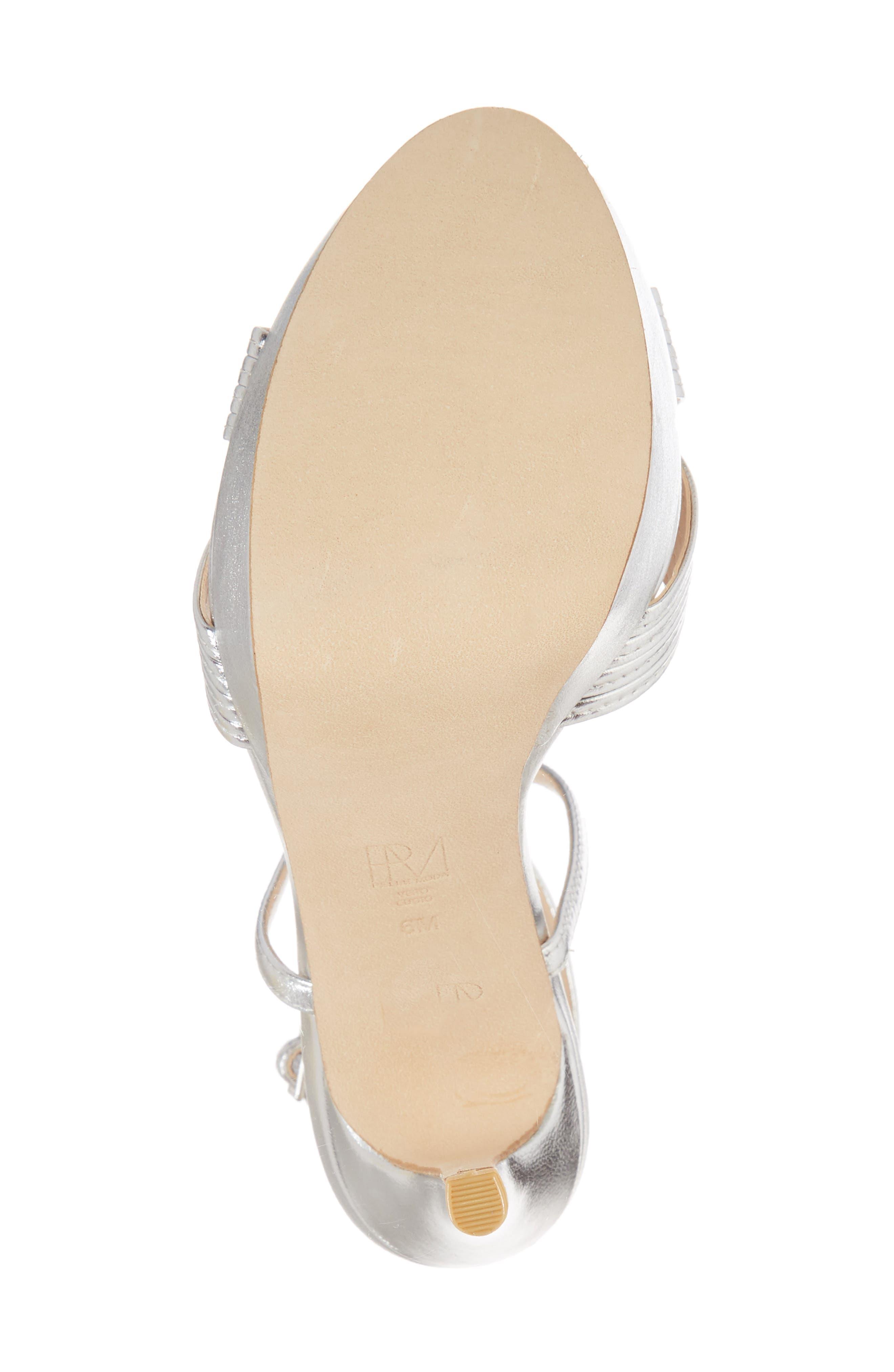 Olson Platform Sandal,                             Alternate thumbnail 6, color,                             SILVER LEATHER