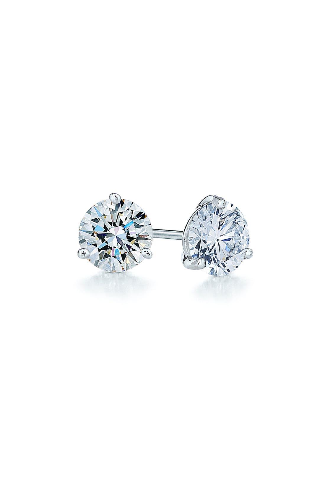0.33ct tw Diamond & Platinum Stud Earrings,                             Main thumbnail 1, color,                             PLATINUM