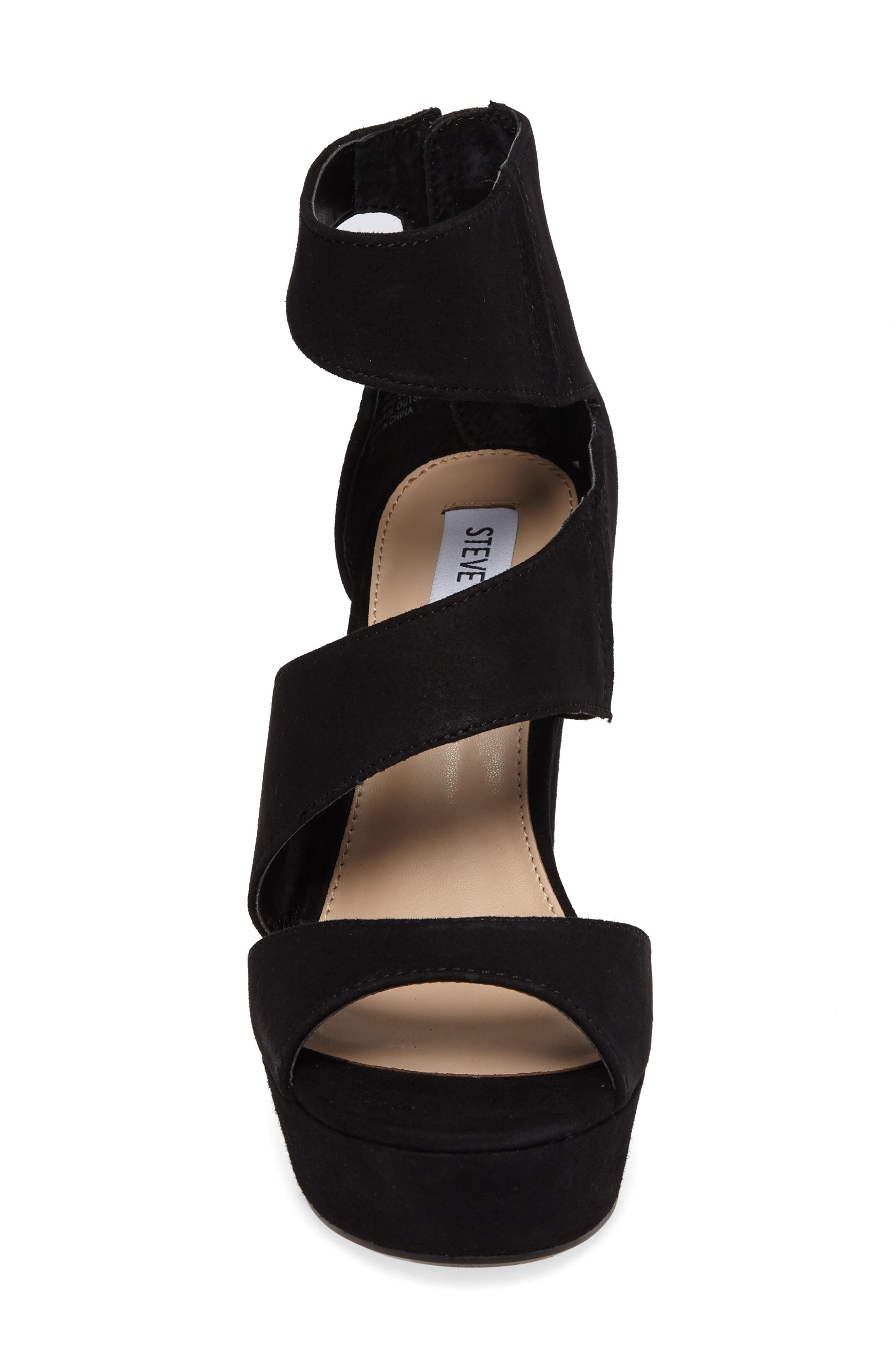Essey Asymmetrical Platform Wedge Sandal,                             Alternate thumbnail 4, color,                             006