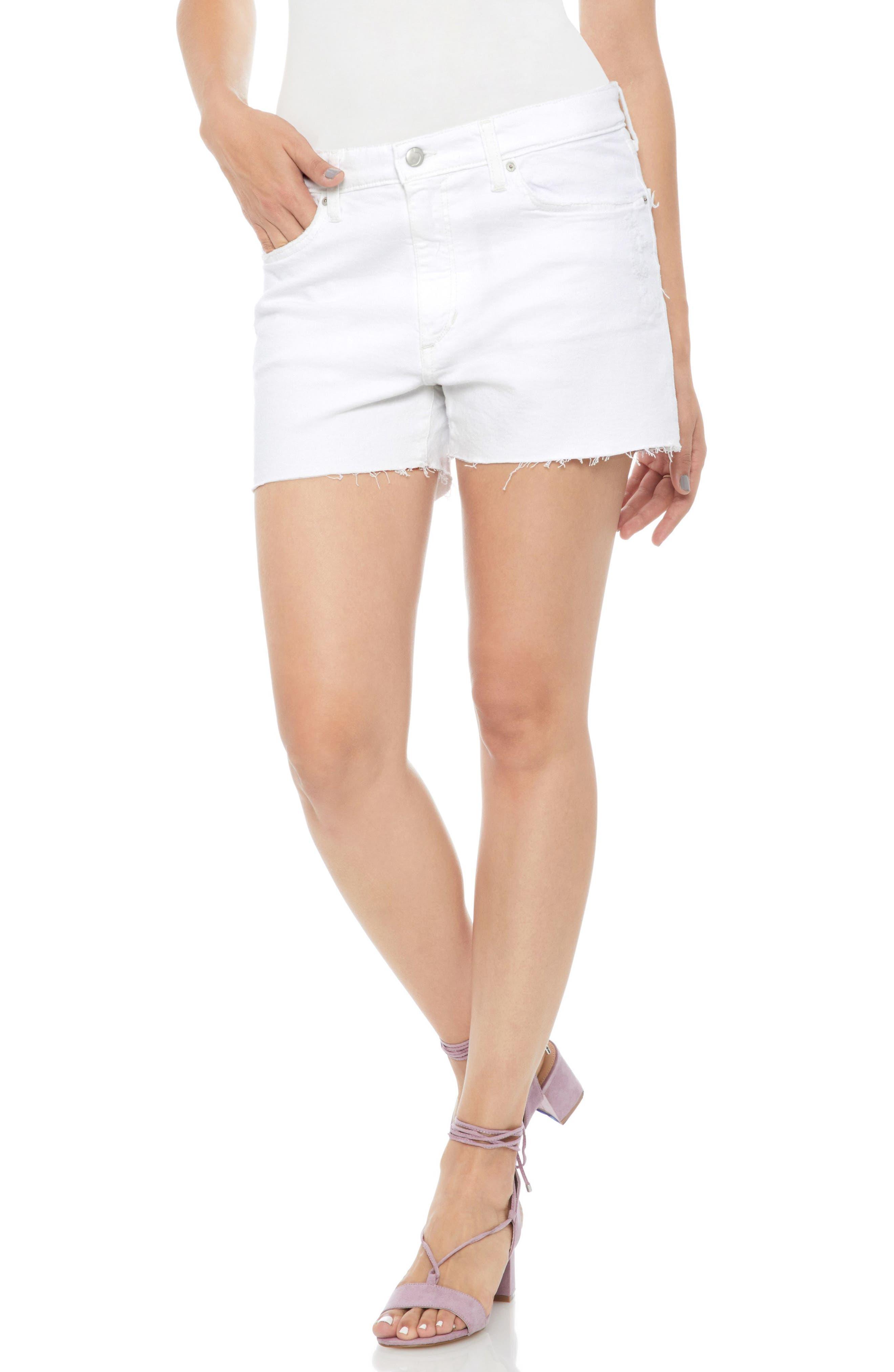 Lover Baggy Cutoff Denim Shorts,                         Main,                         color, 100
