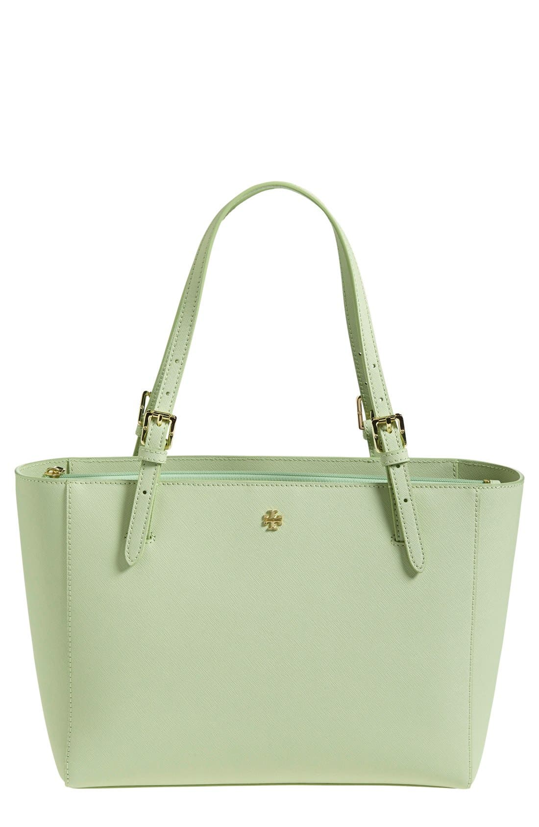 'Small York' Saffiano Leather Buckle Tote,                             Main thumbnail 8, color,