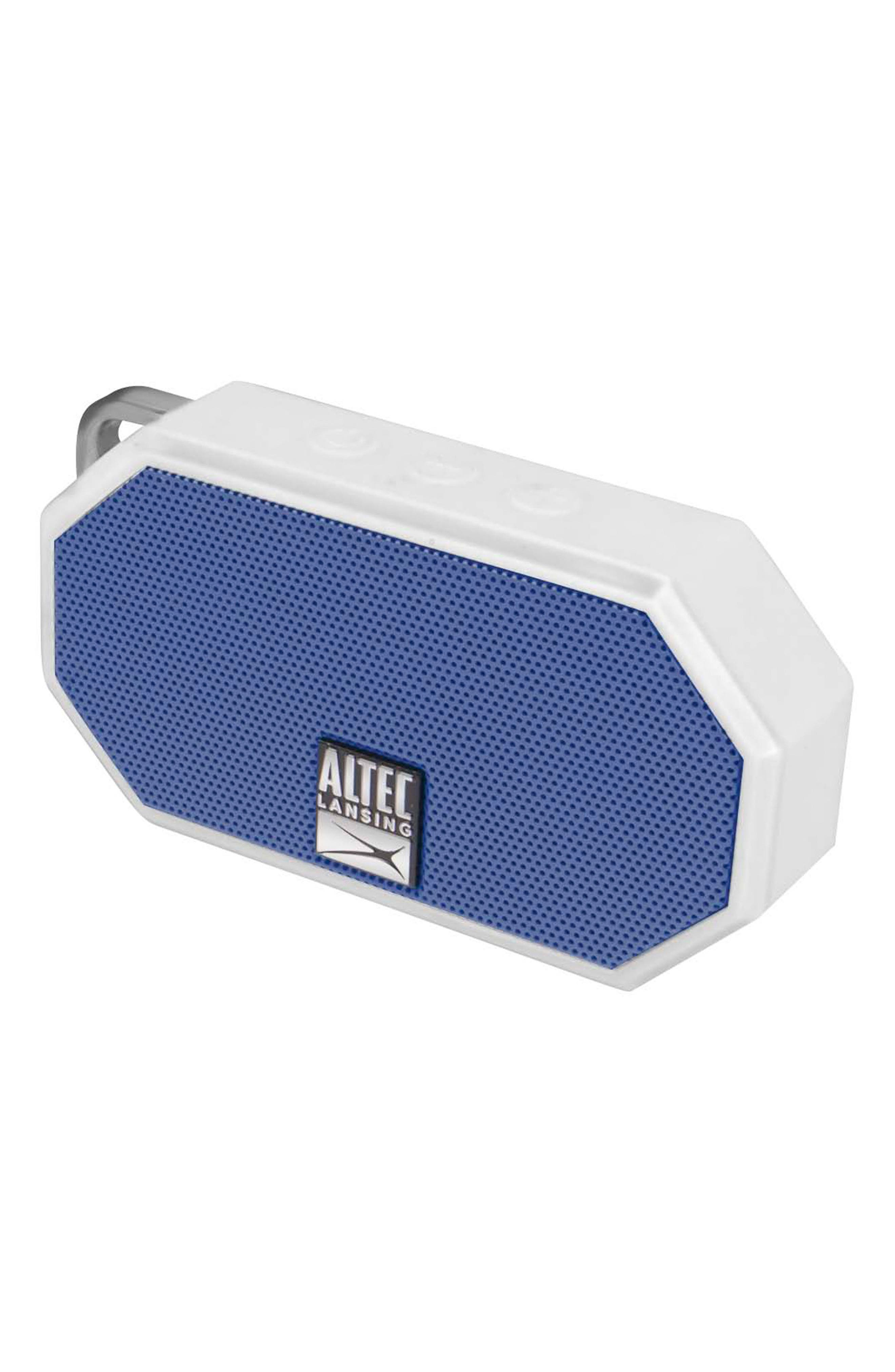 ALTEC LANSING,                             Mini H2O 3 Waterproof Compact Speaker,                             Alternate thumbnail 4, color,                             WHTE/ DEEP MID BLUE